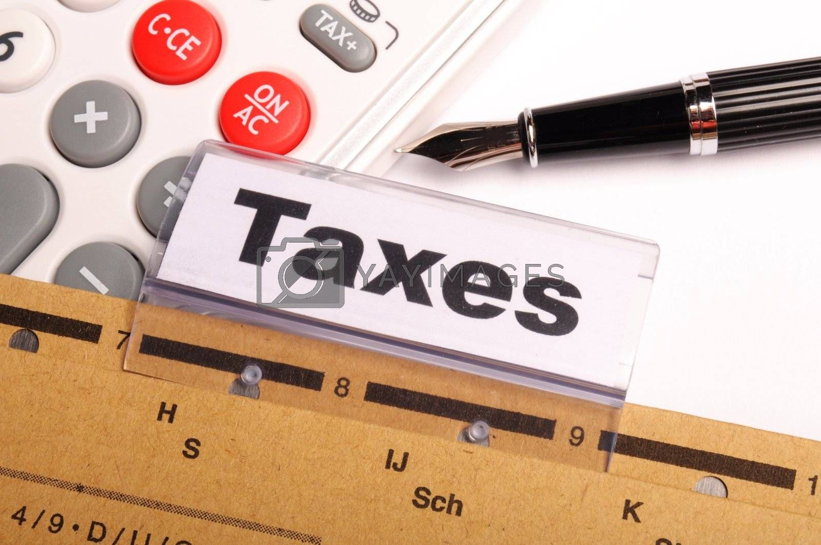 Royalty free image of taxes by gunnar3000
