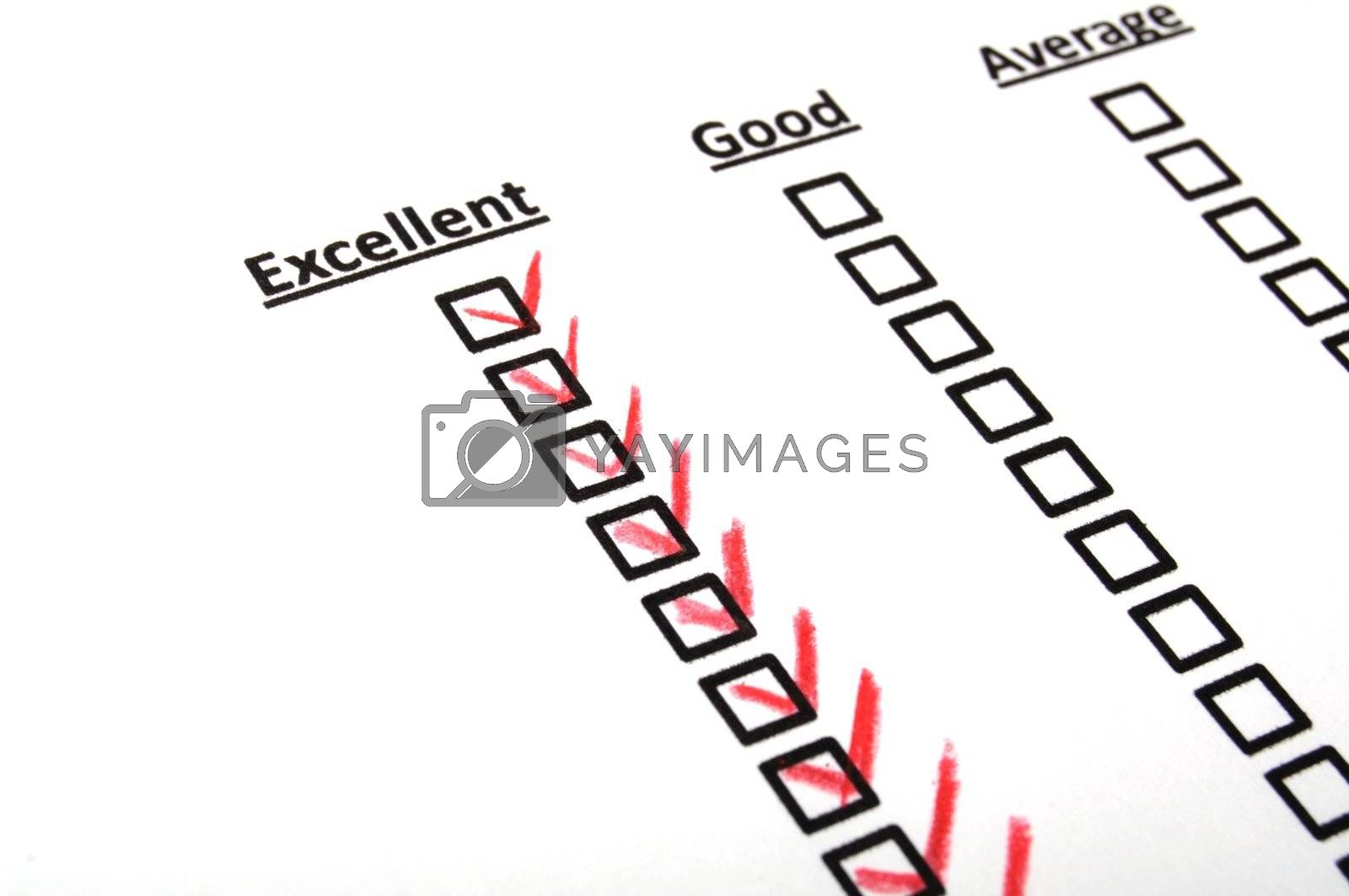 Royalty free image of quality survey by gunnar3000