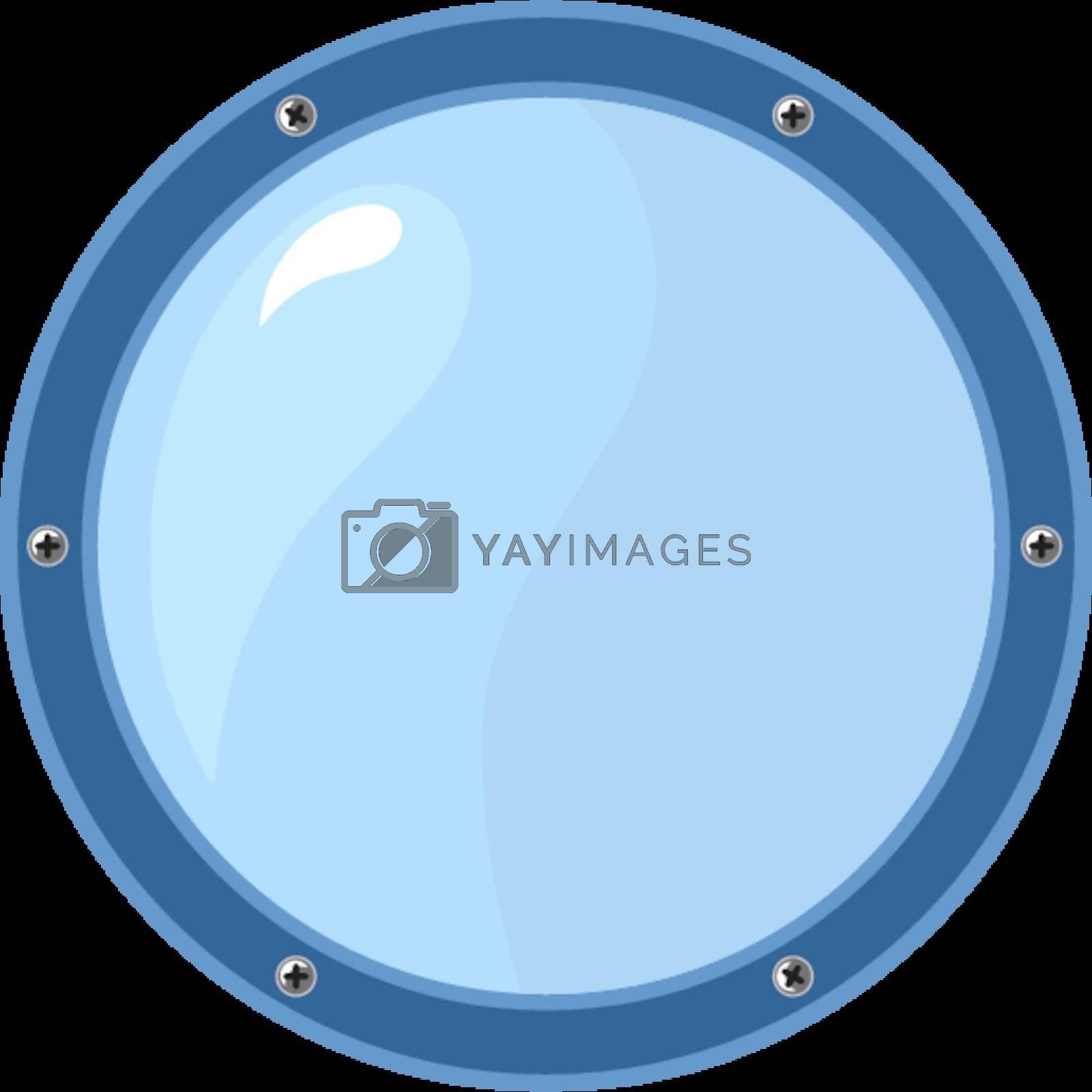 Porthole on white