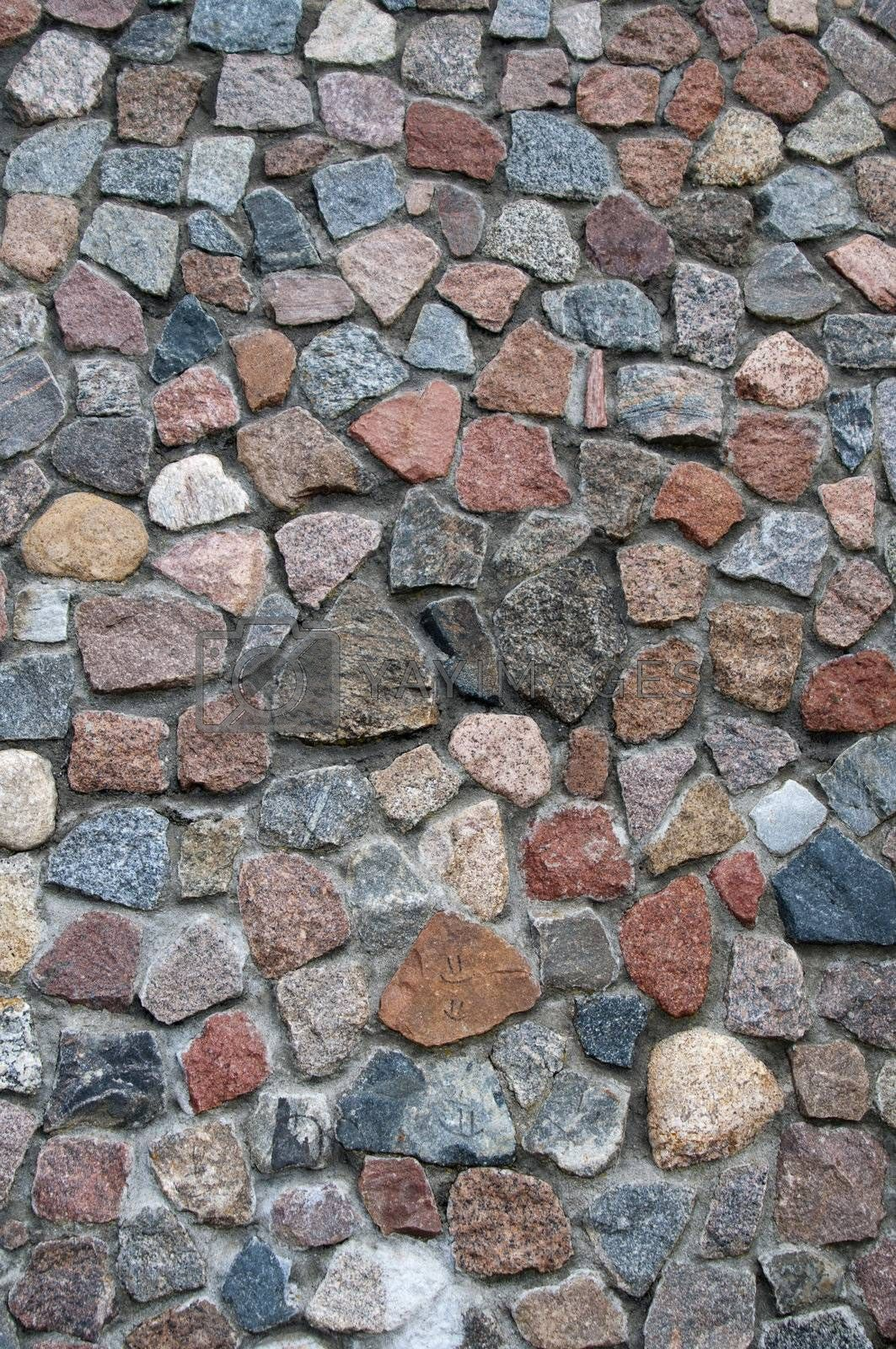 High resolution image. Stone texture. Stone background. A wall from a stone.