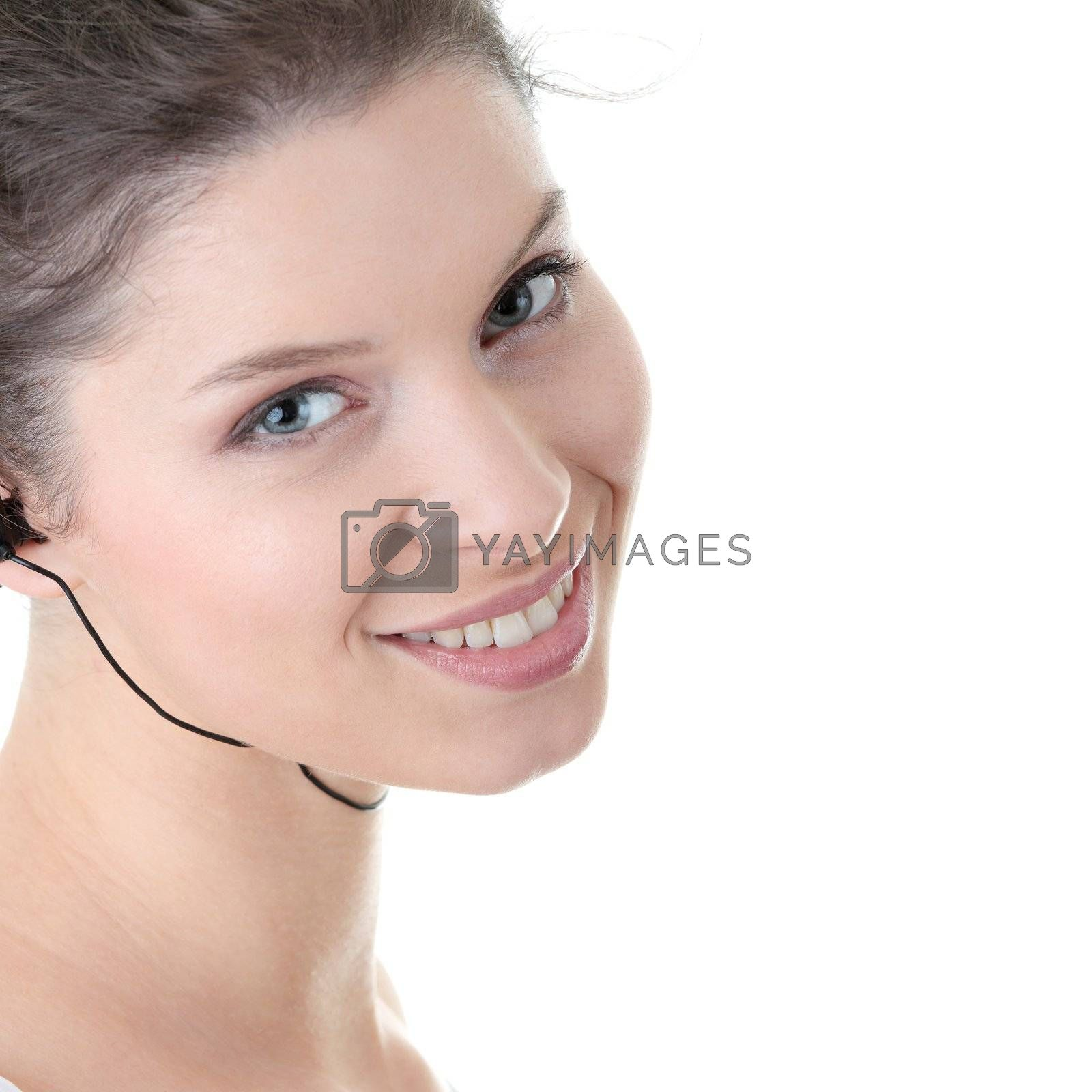 Young fitness woman with sport headphones by BDS