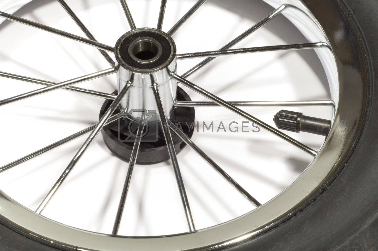 series: isolated on white: Wheel with spoke
