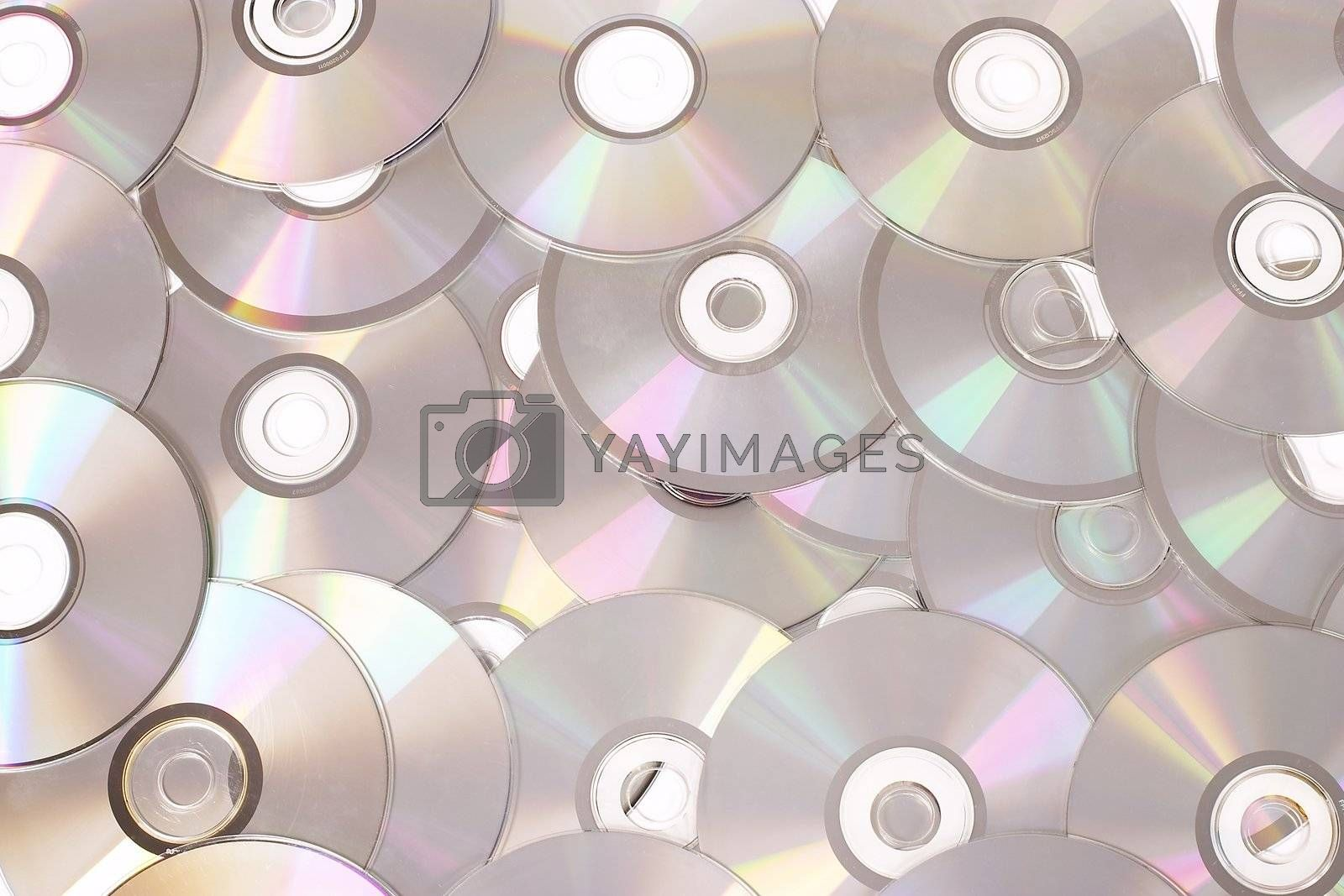 technology background: a lot of CD disk