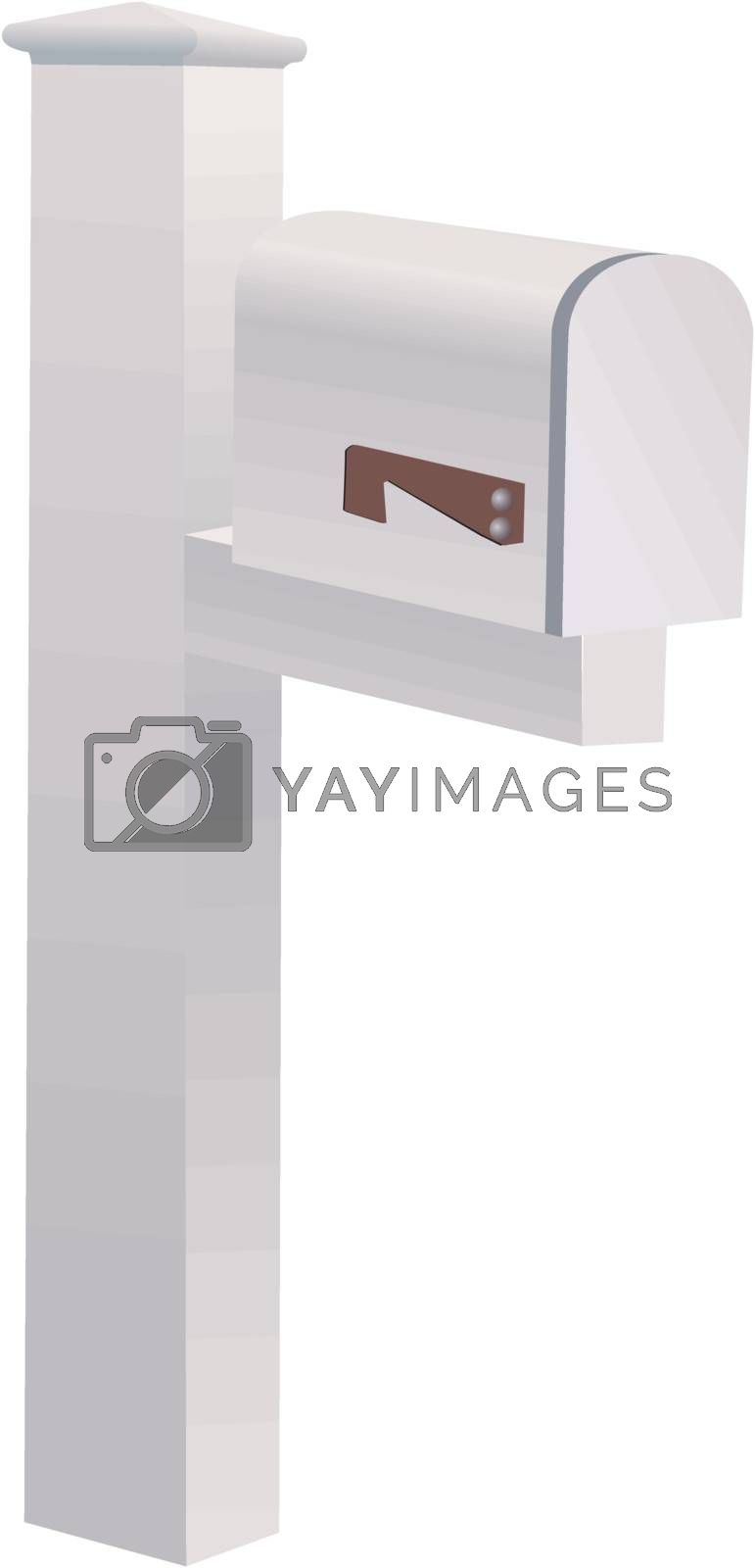 mailbox on white