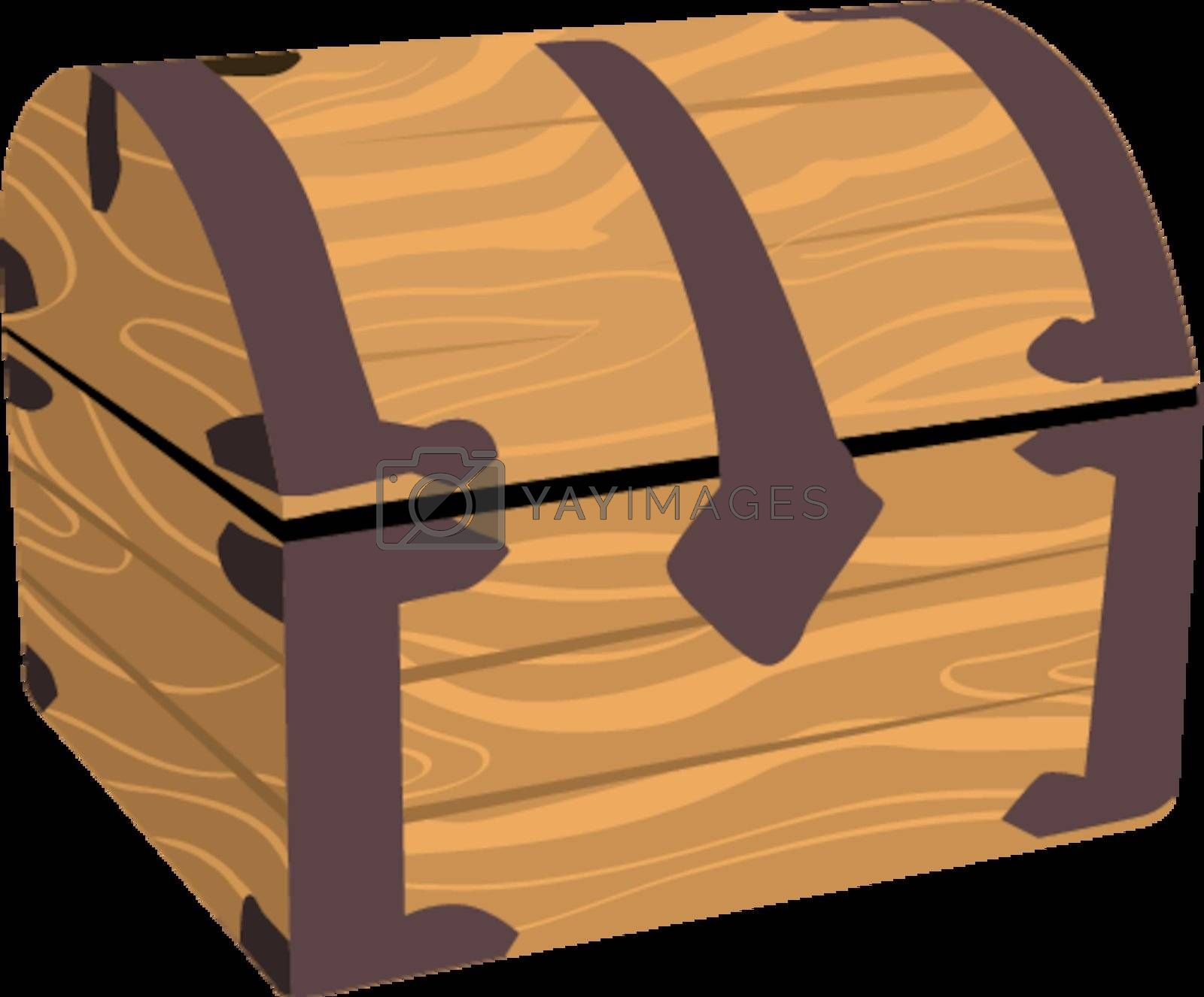 wooden treasure or pirate chest