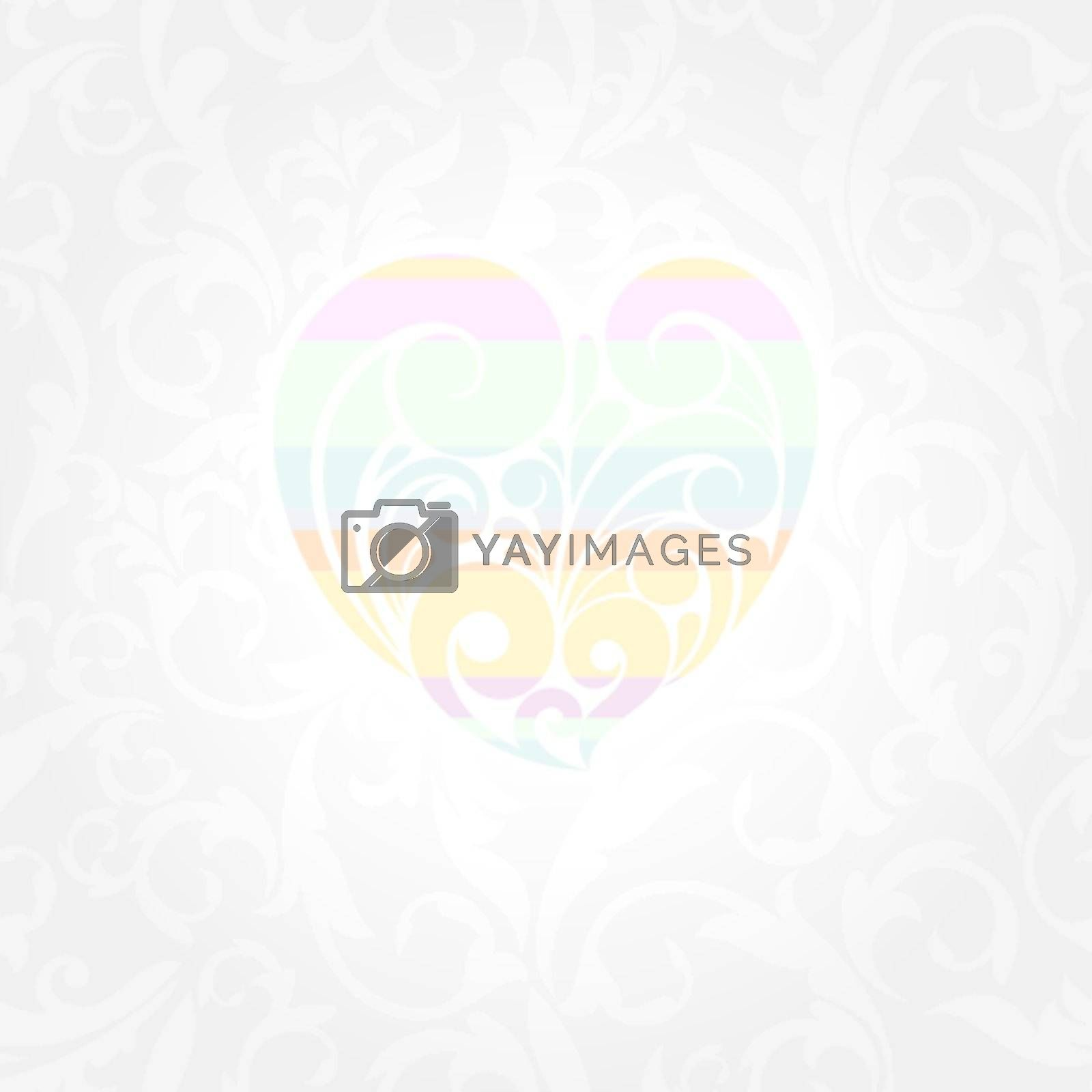 abstract cute Valentines day card vector illustration