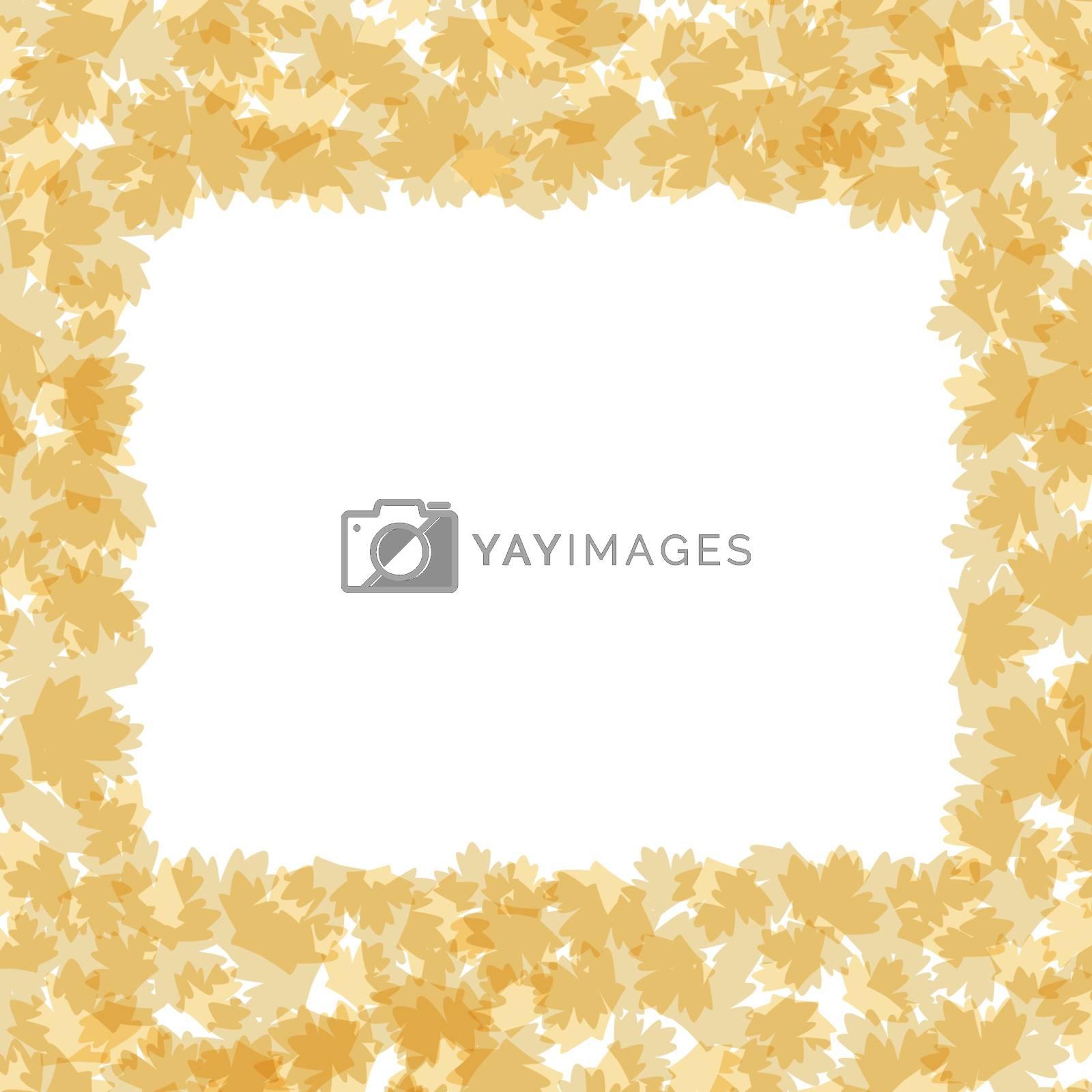 Autumnal leaf of maple border frame vector background