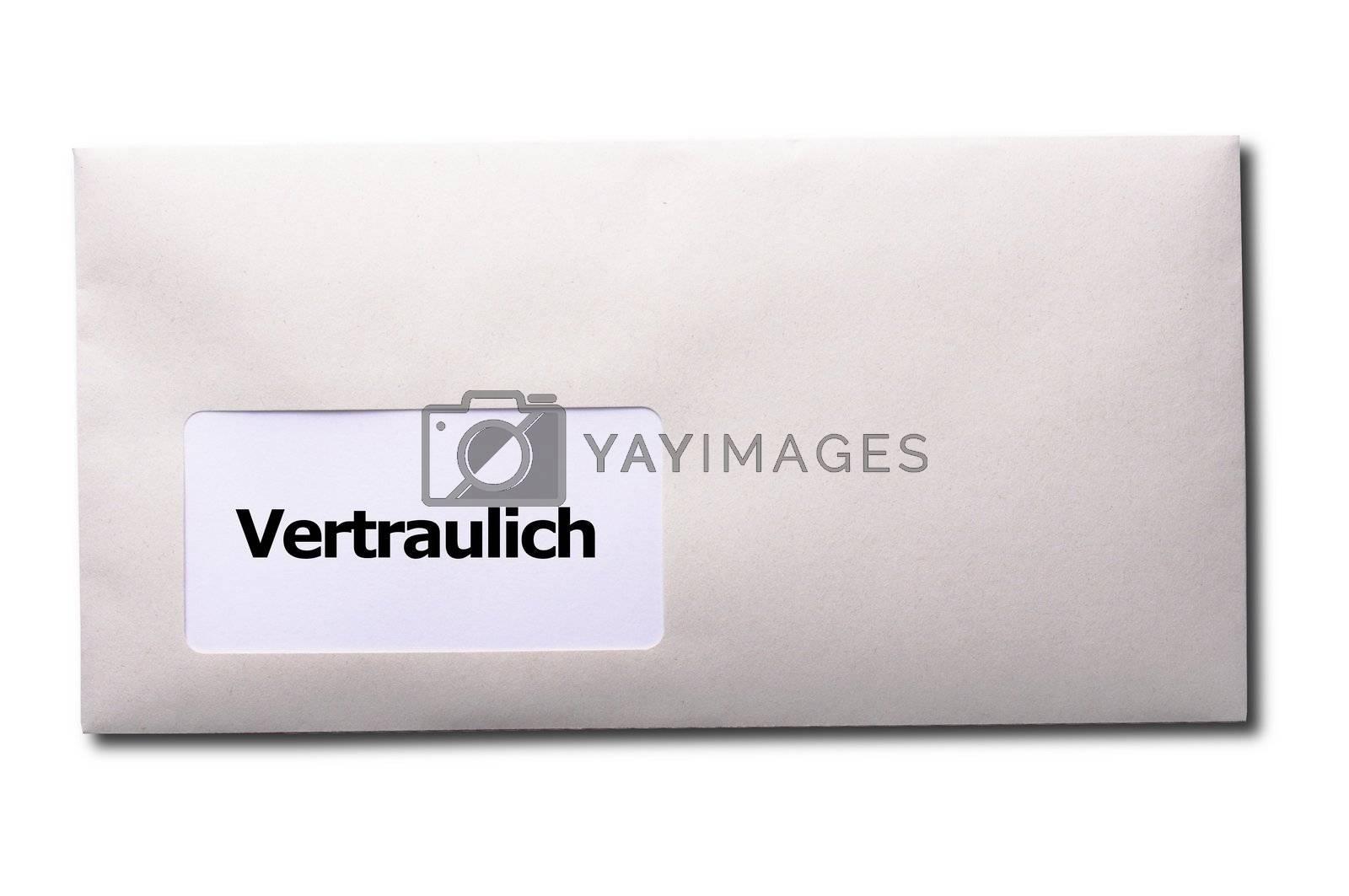 confidential or top secret letter showing business post concept