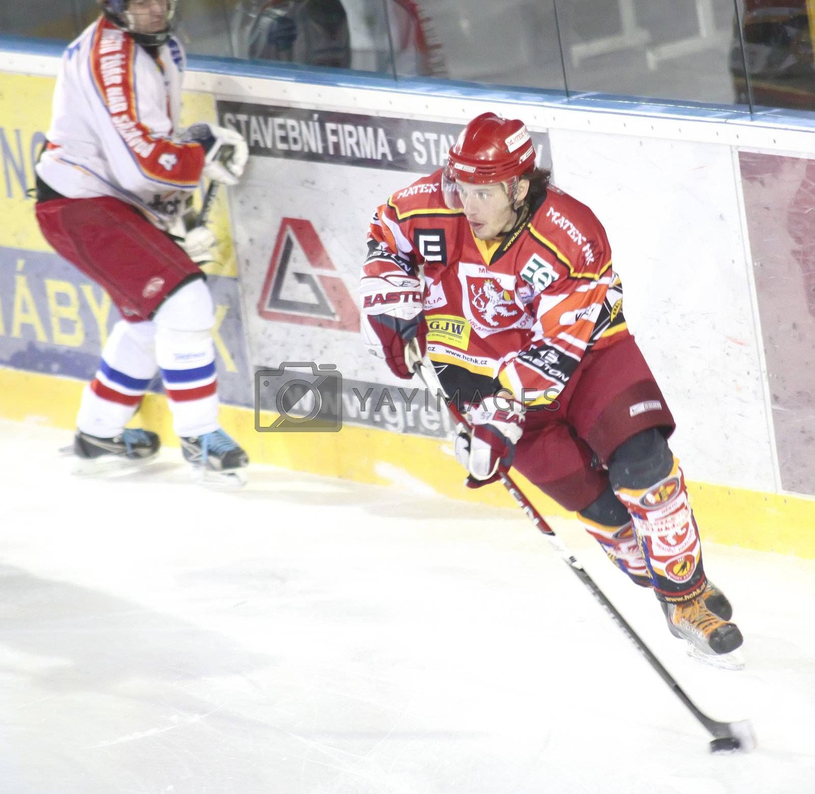 ice hockey match of czech league