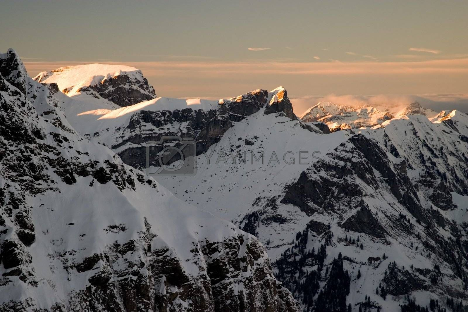 Sunset in the Swiss Alps
