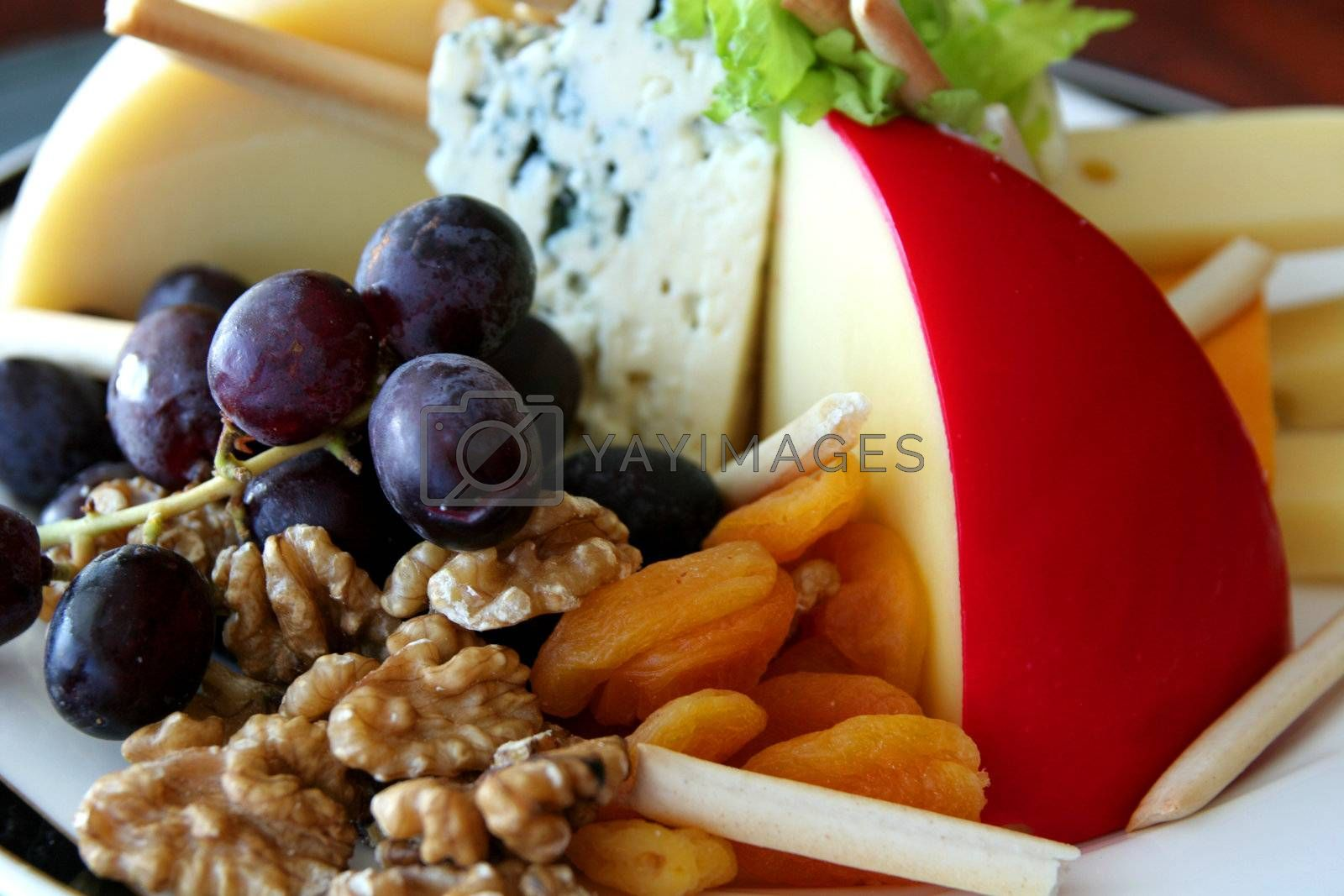 Fruit, Nuts, and Cheese by dbvirago