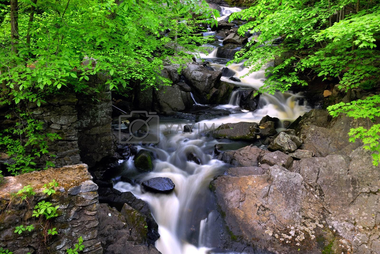 Water Cascade by pazham