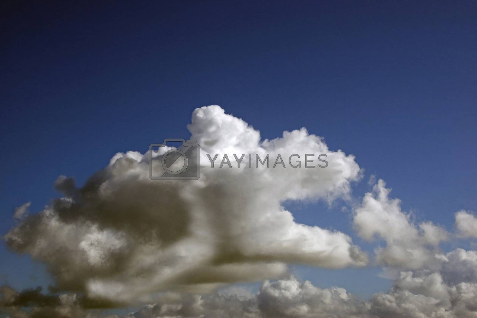 cloud man bringing forth a storm