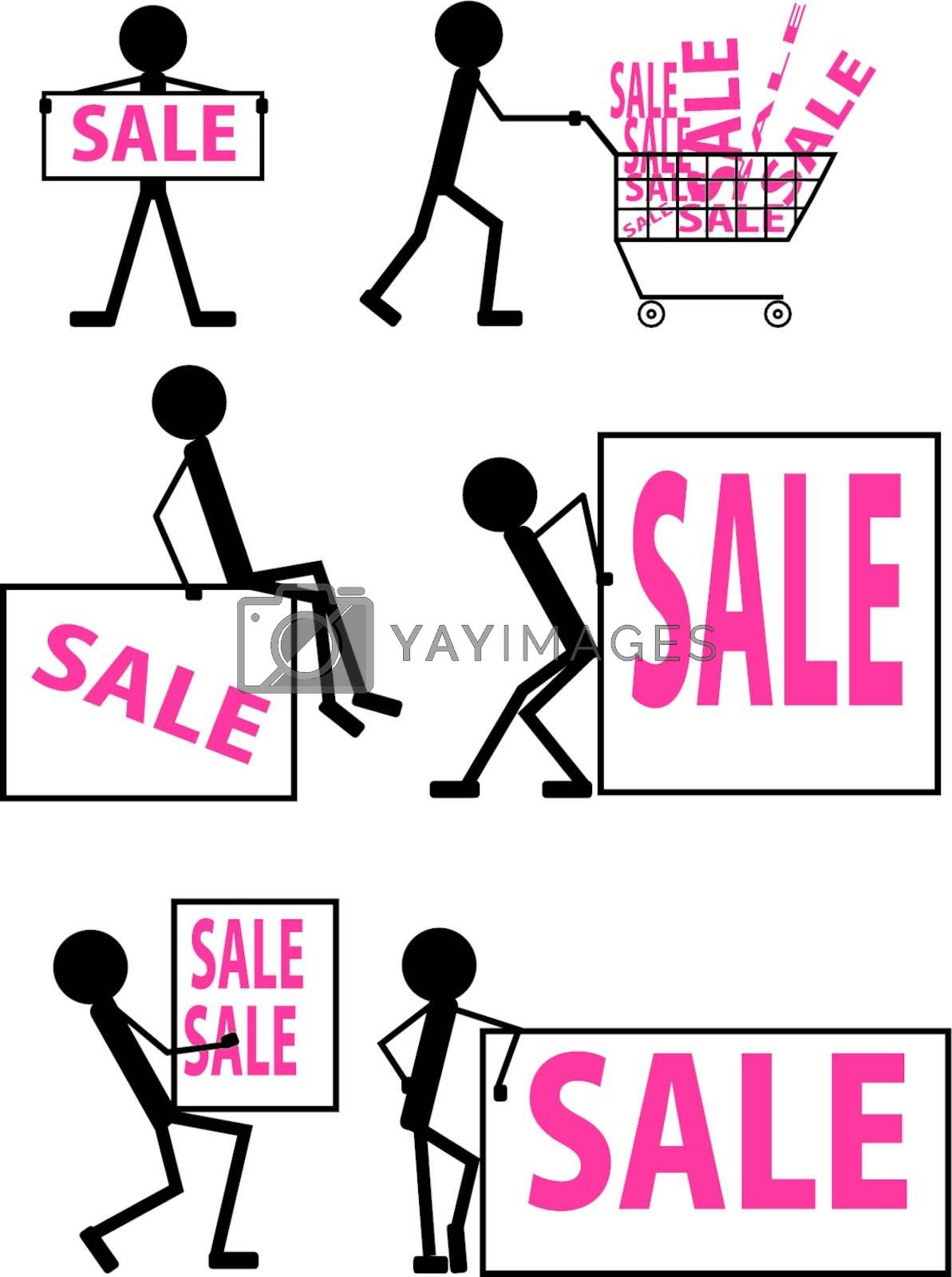 Icons with the image of people for sale