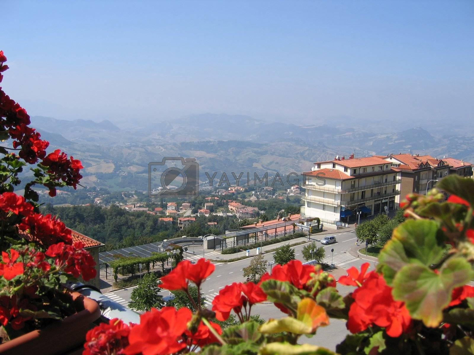 Italy, Republic San Marino top view