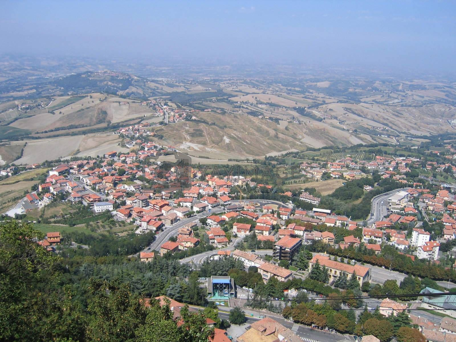 Italy, Republic of San Marino, top view