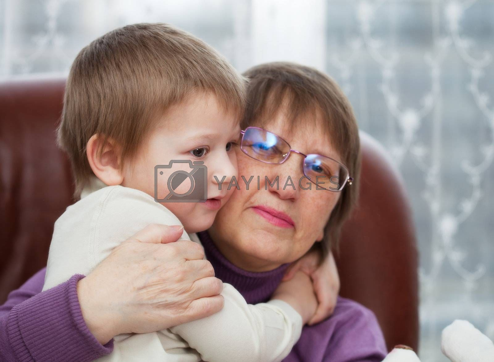 Grandson with grandmother by MikLav