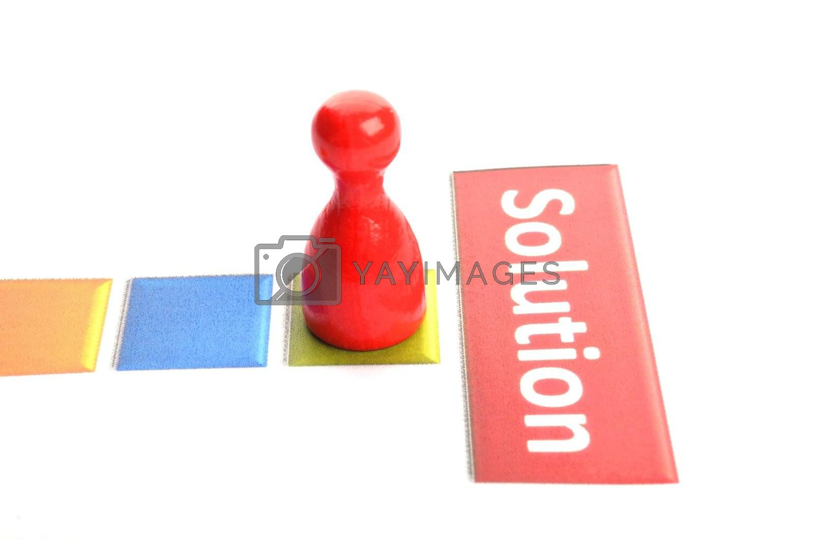 solution for busines problem concept with word an pawn