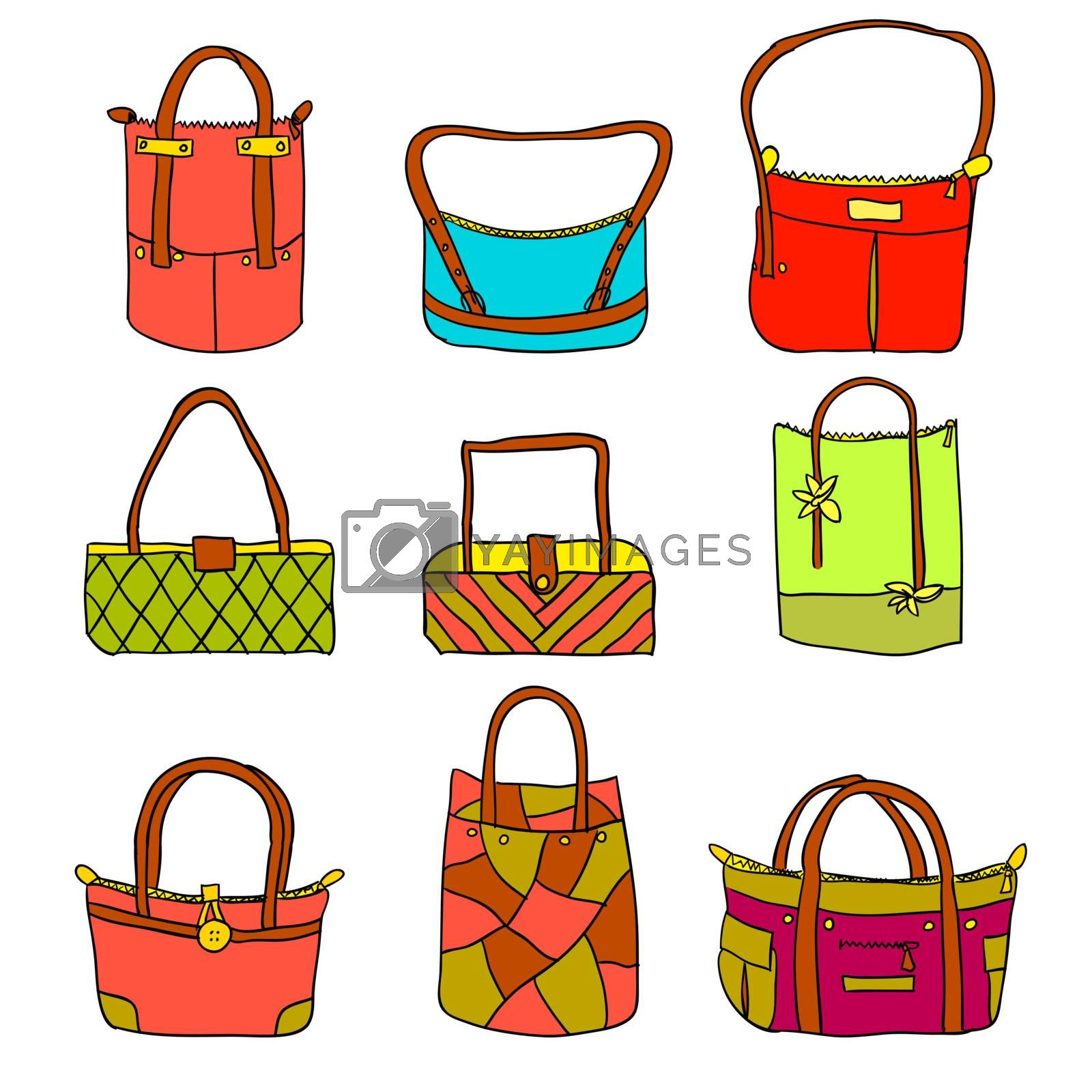 vector collection of woman's accessories