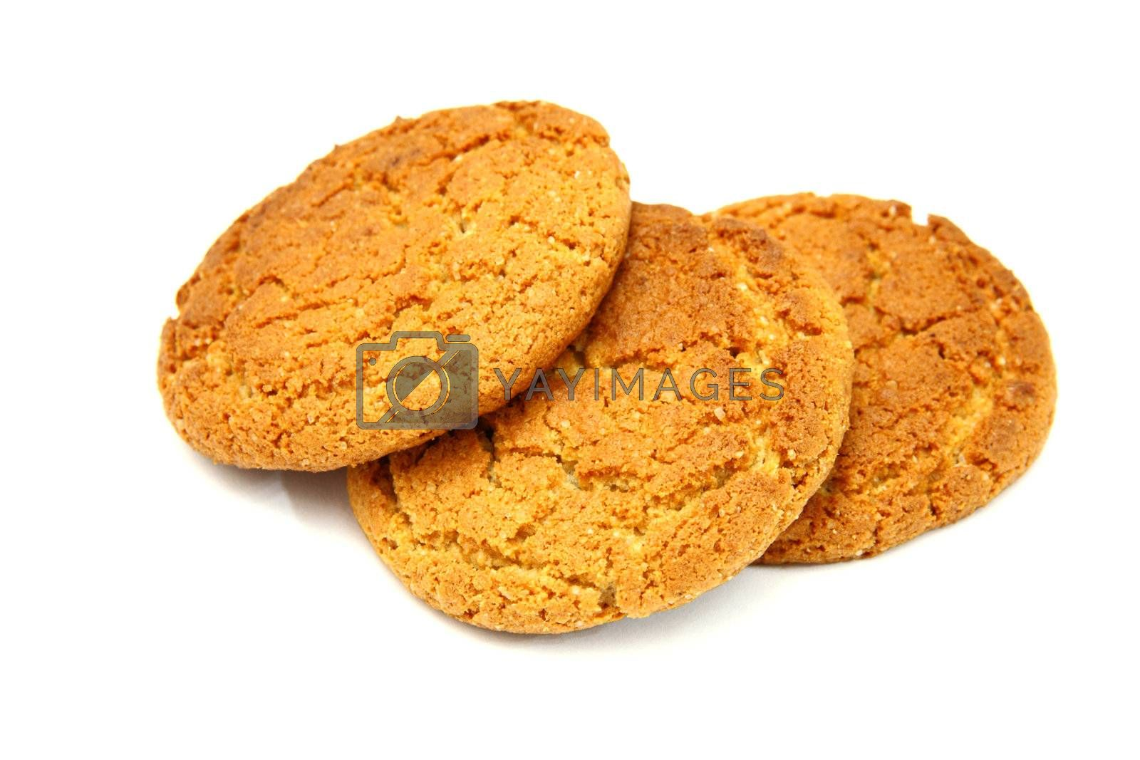 Trio Of   Cookies Isolated On White Background