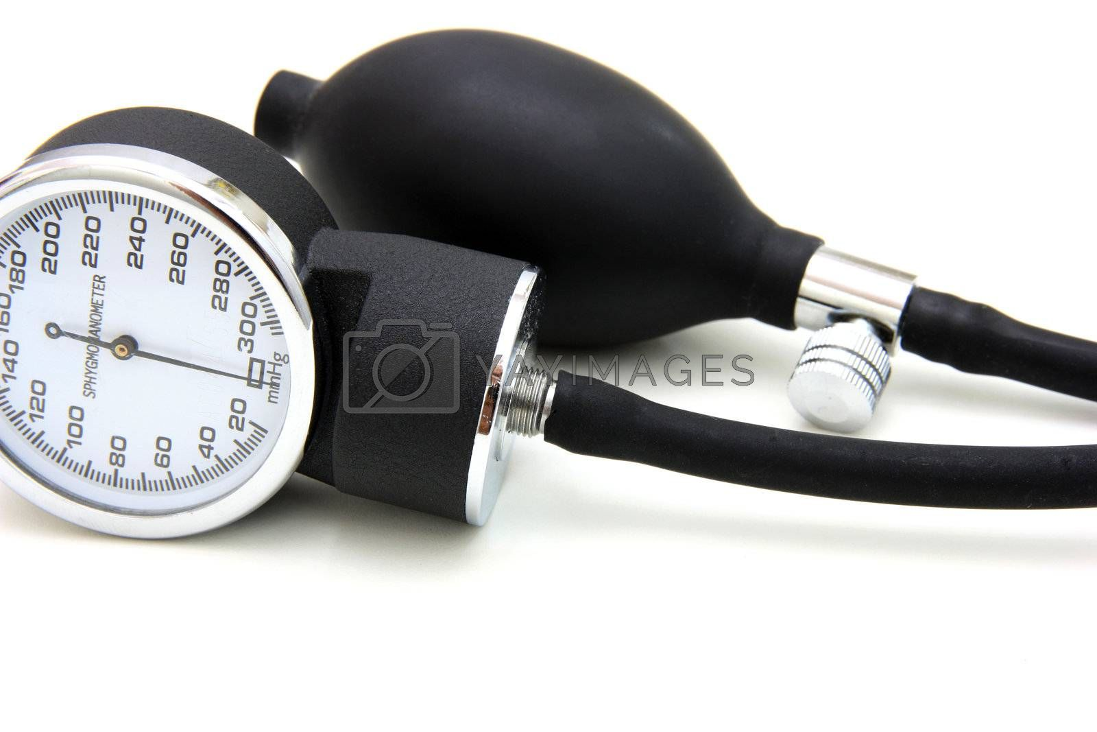 Black Tomometer Isolated on a White Background