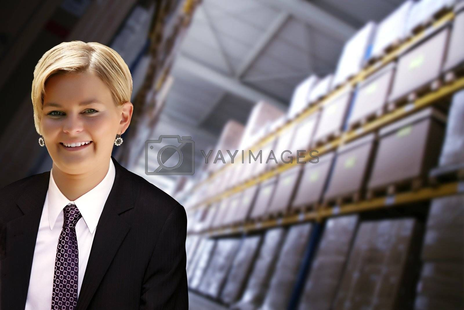 young female manager in transportation and logistics industry