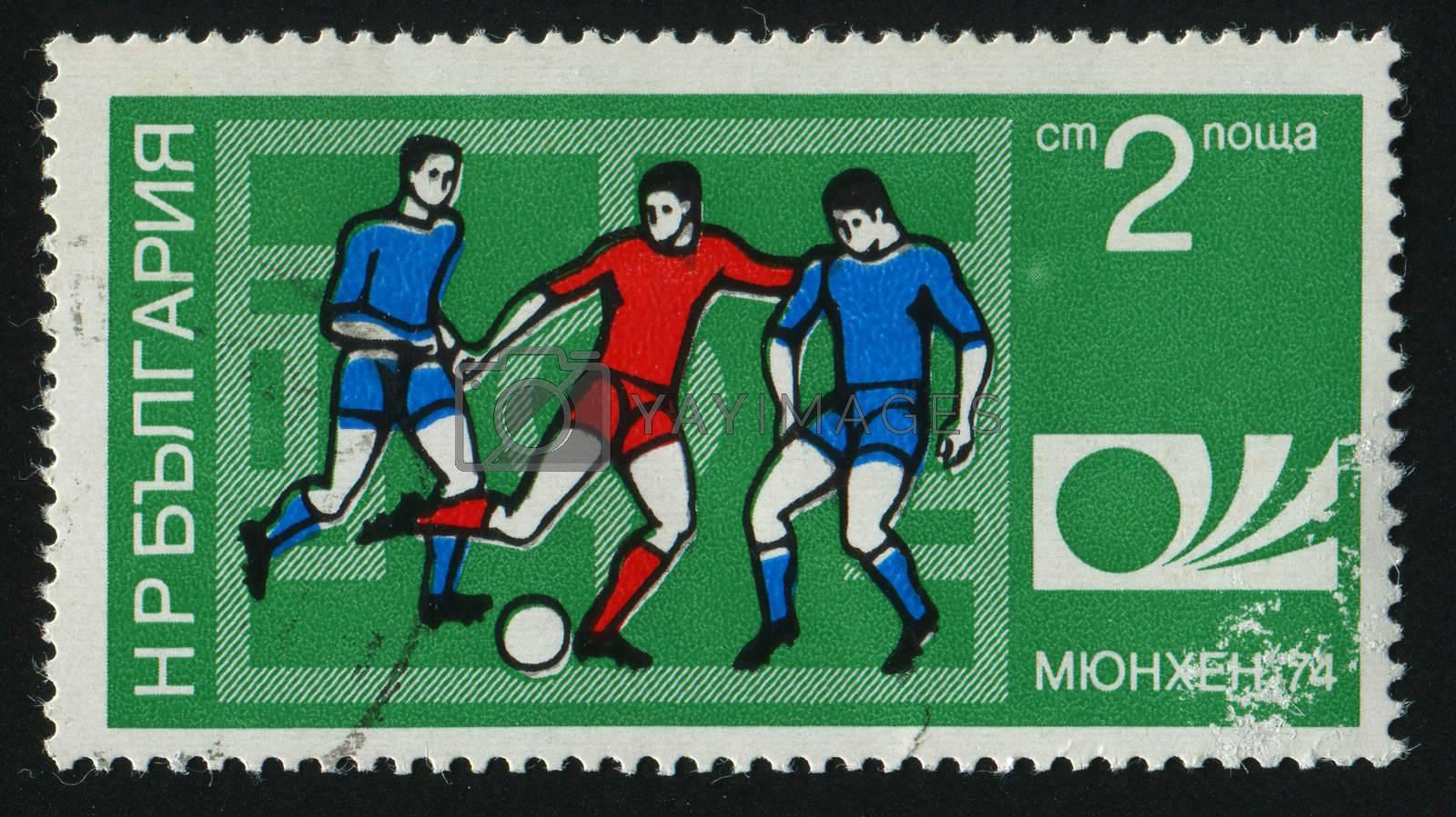 BULGARIA - CIRCA 1974: World Soccer Championship, Munich, circa 1974.