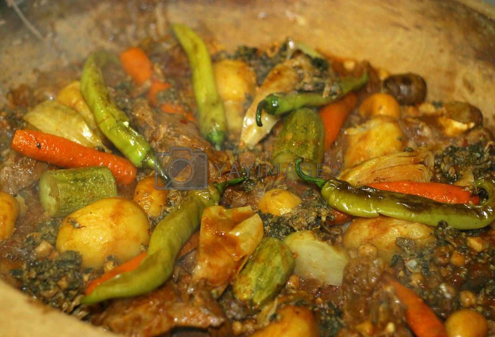 East dish from mutton and vegetables