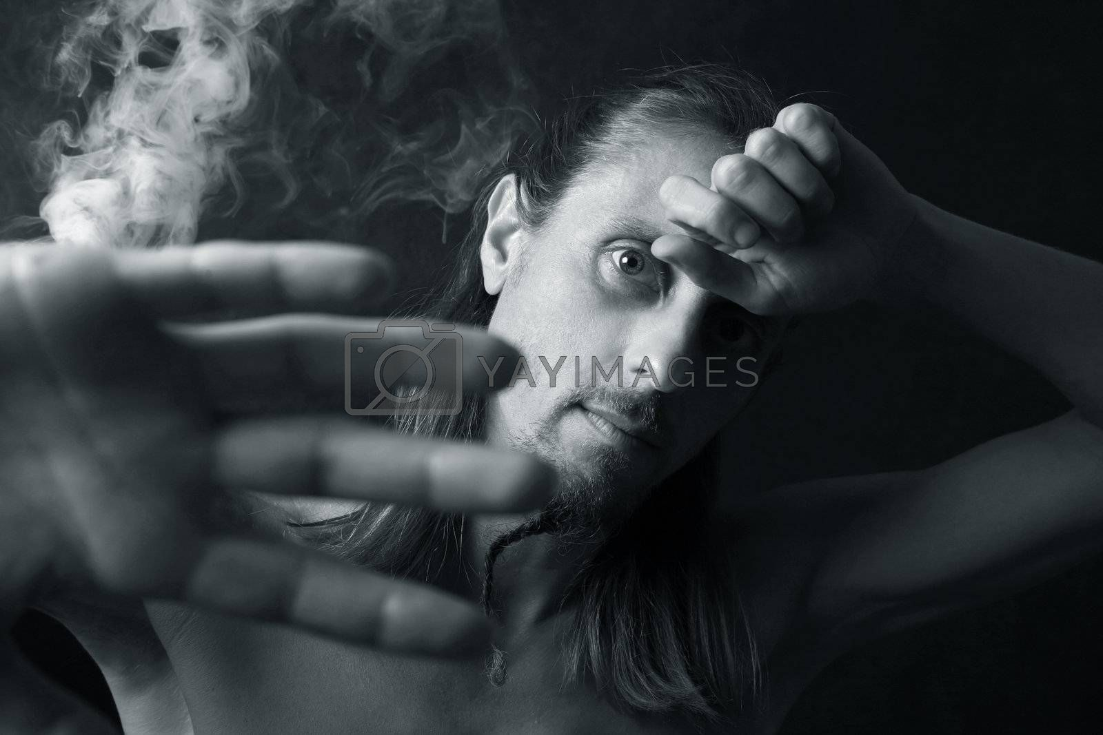 Portrait in a smoke by friday