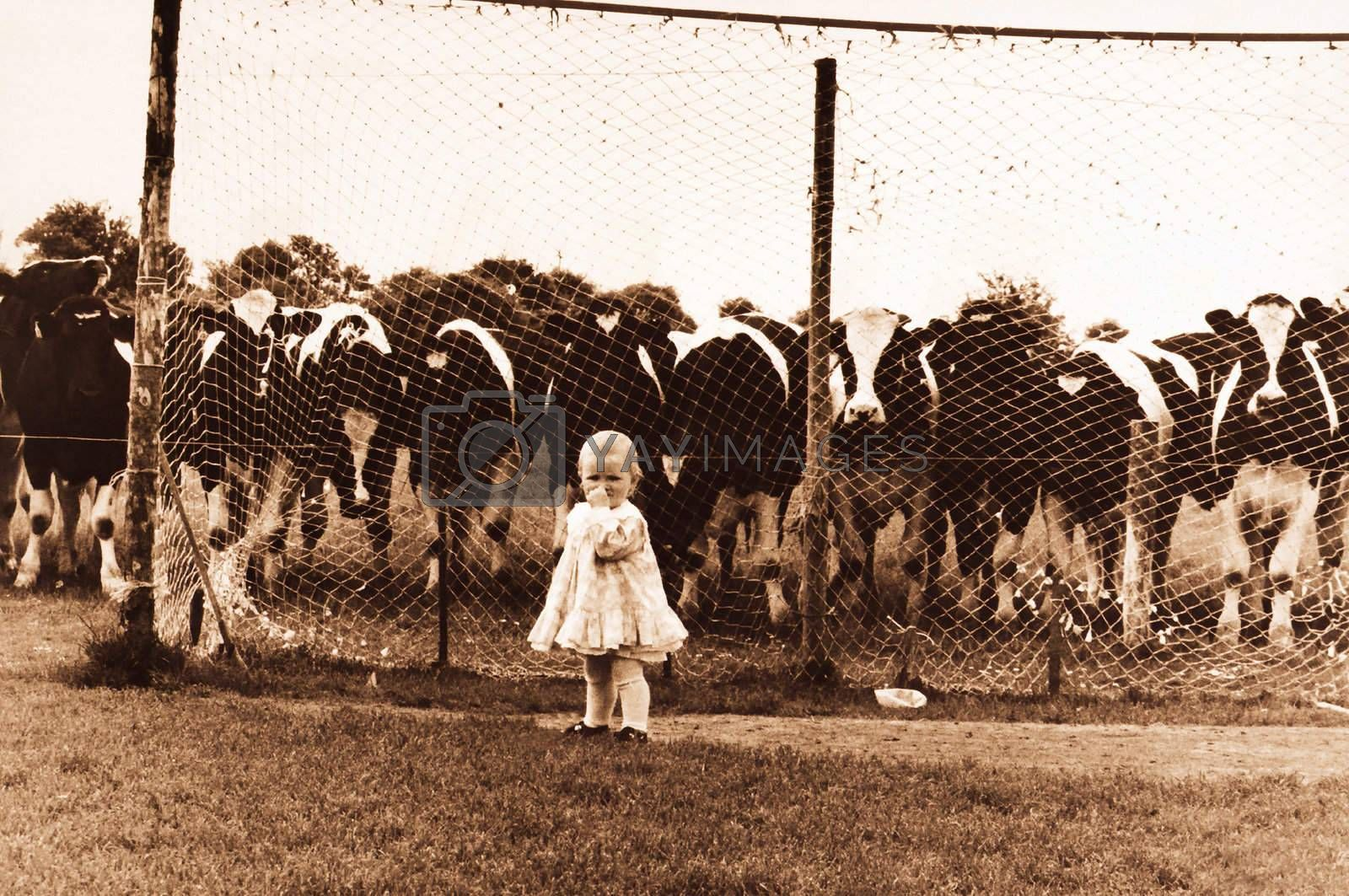 child in front of goal
