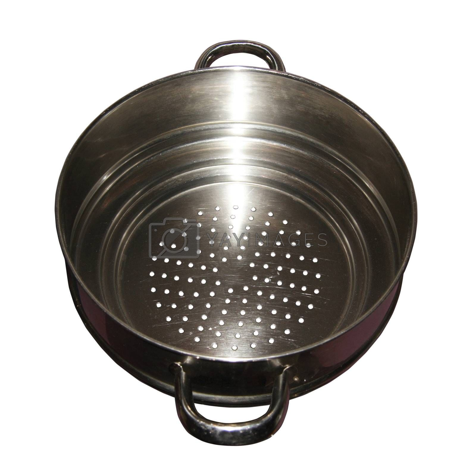 cut out of a kitchen colander
