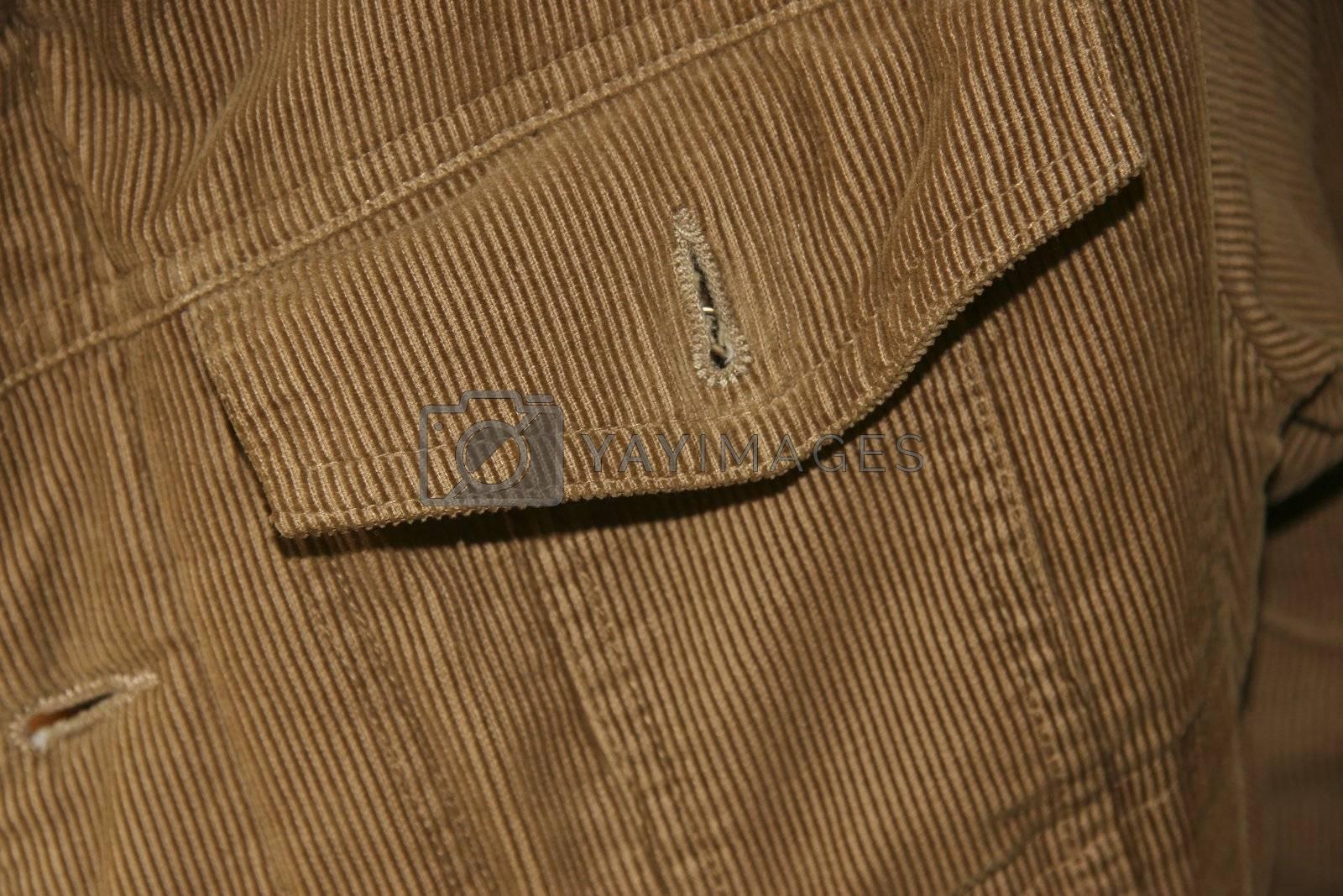 close-up of a denim jacket