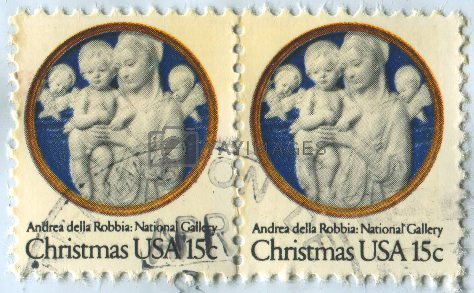 UNITED STATES - CIRCA 2009: stamp printed by United states, shows Madonna and Child, circa 2009.