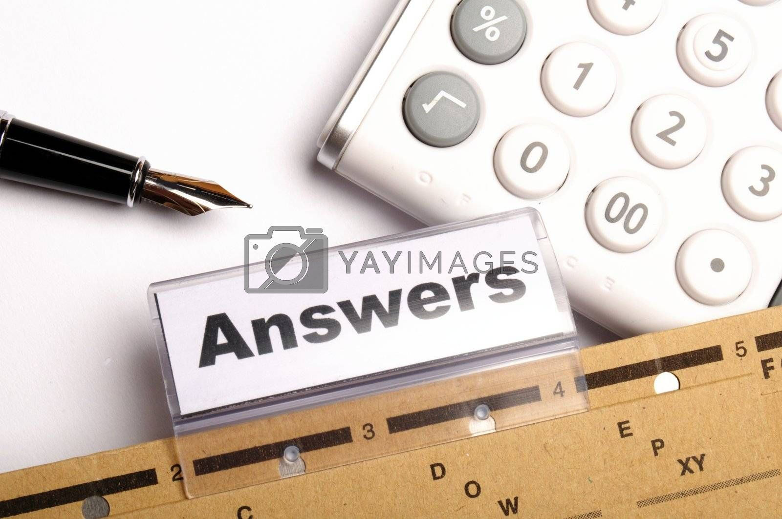 Royalty free image of answers by gunnar3000