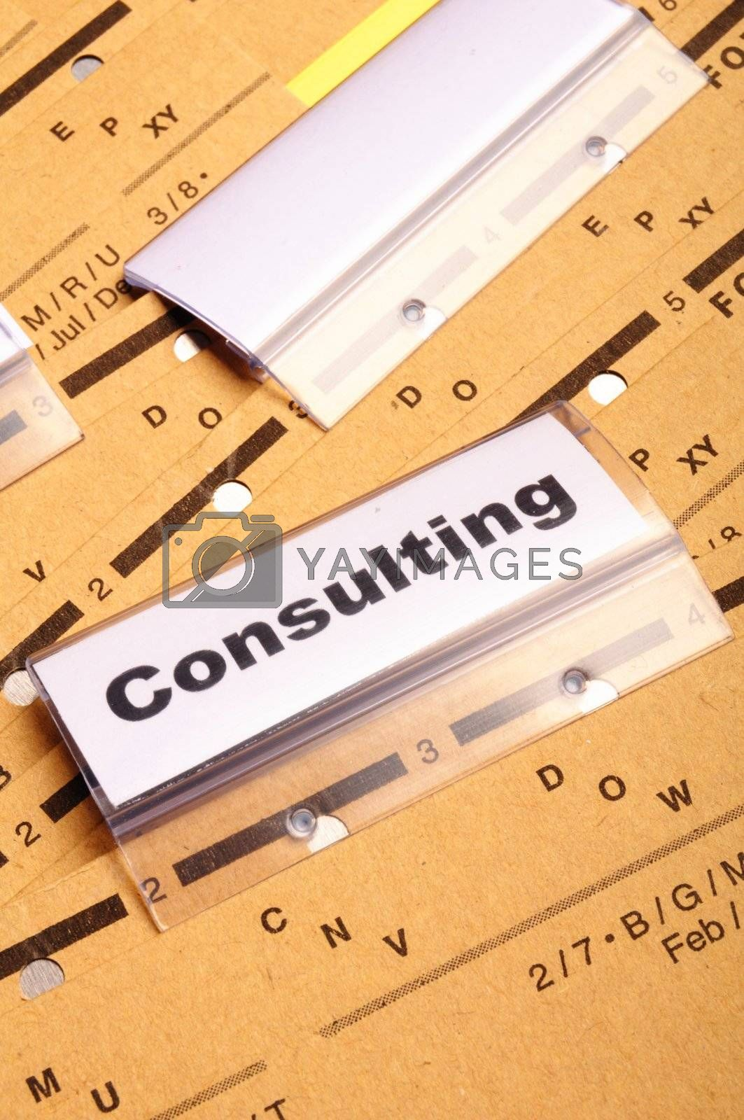 Royalty free image of consulting by gunnar3000