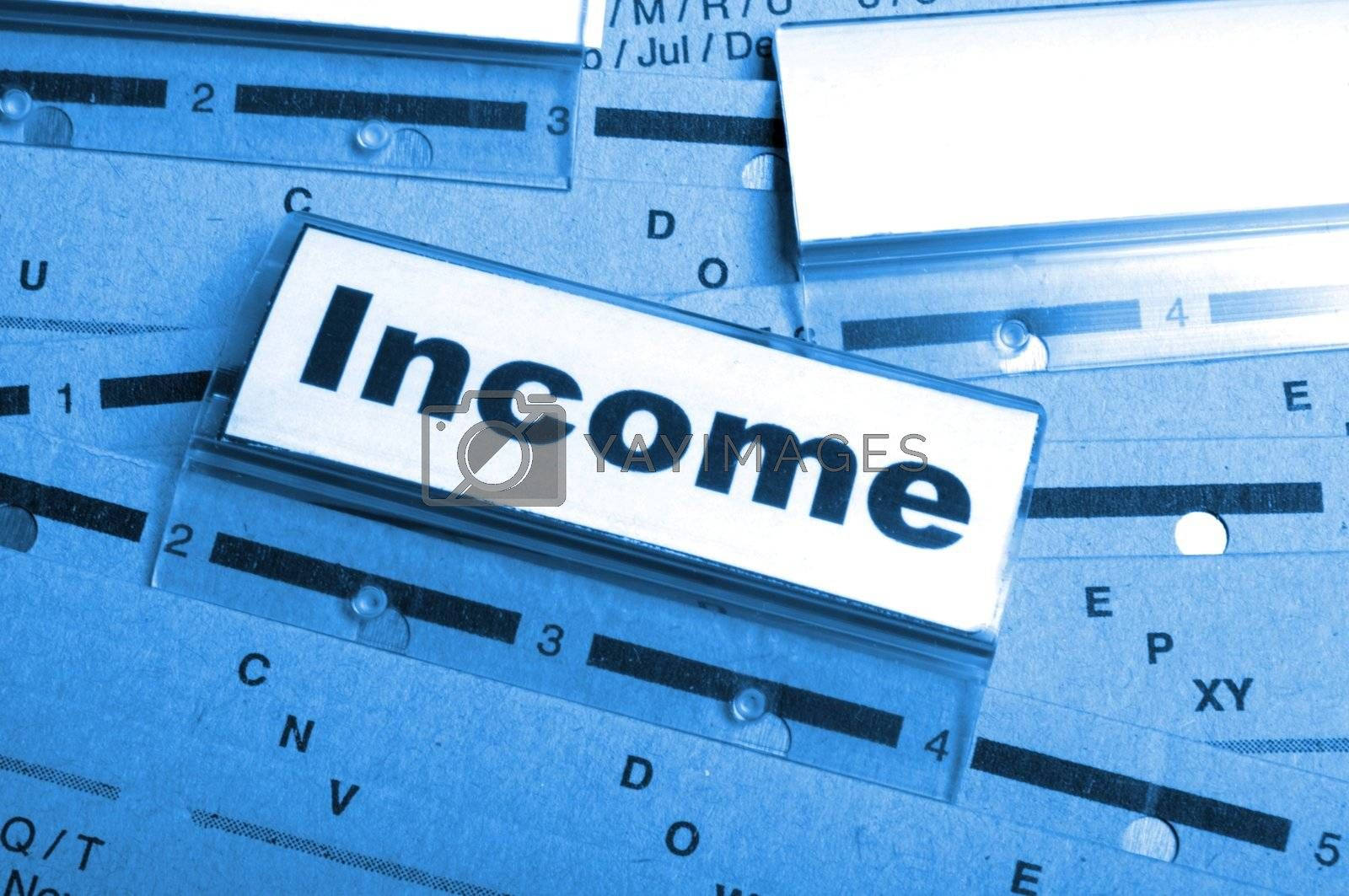 Royalty free image of income by gunnar3000