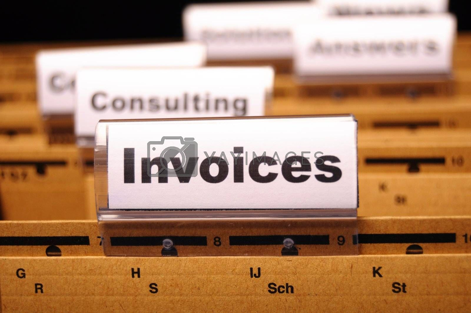 Royalty free image of invoice by gunnar3000