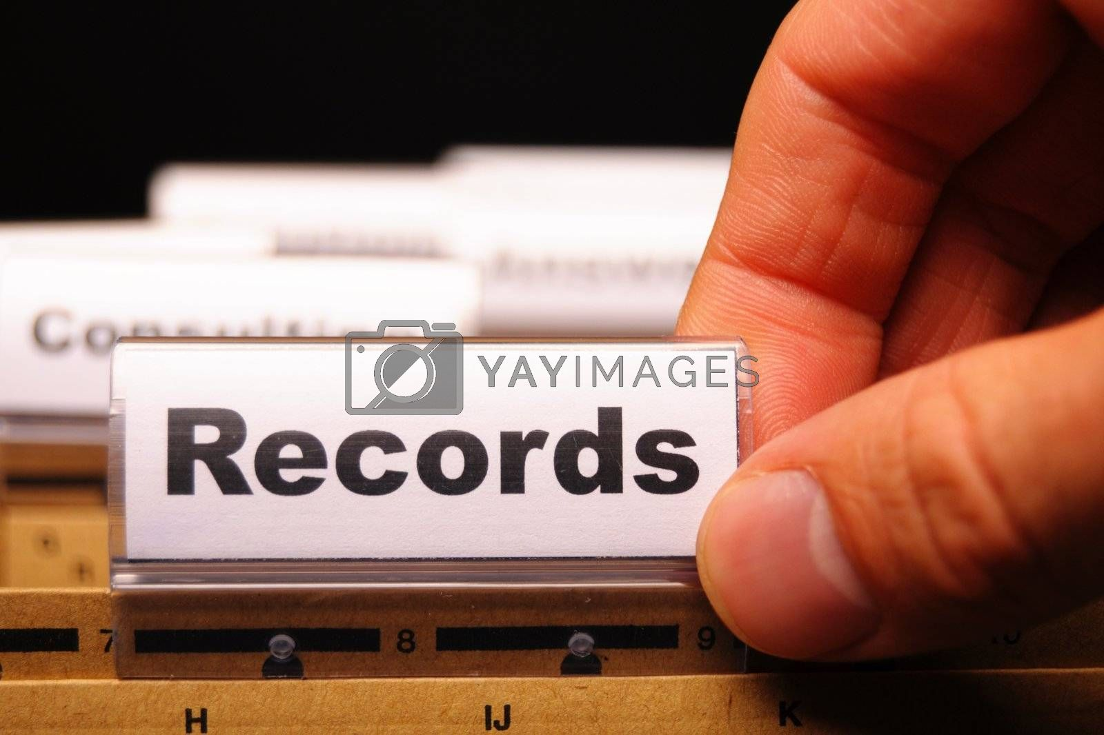 Royalty free image of records by gunnar3000