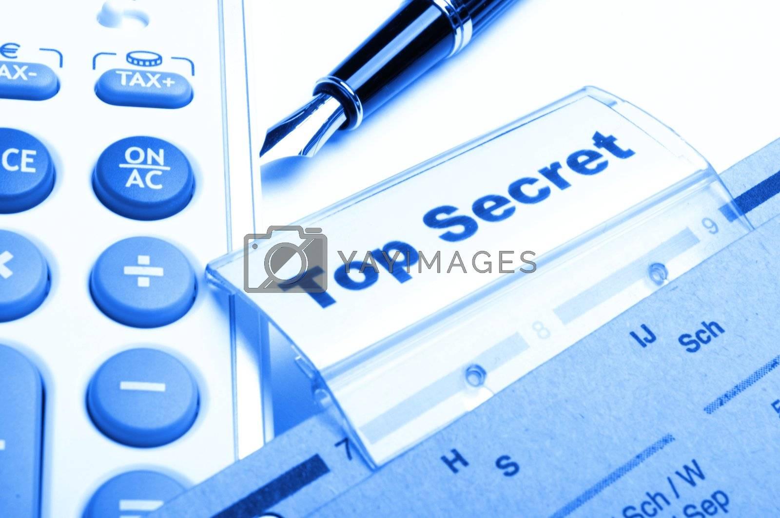 top secret folder or file in a business office