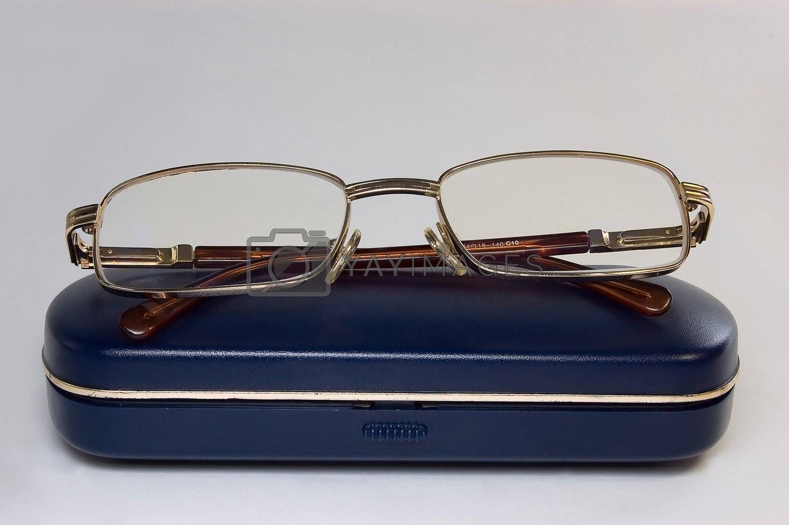Spectacles on box