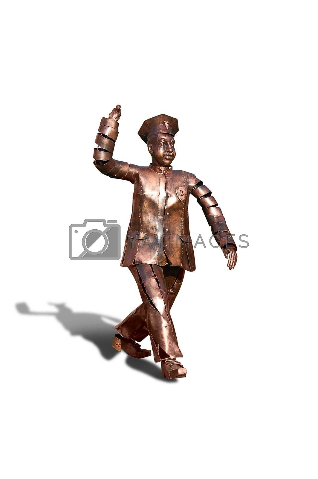 Bronze policeman