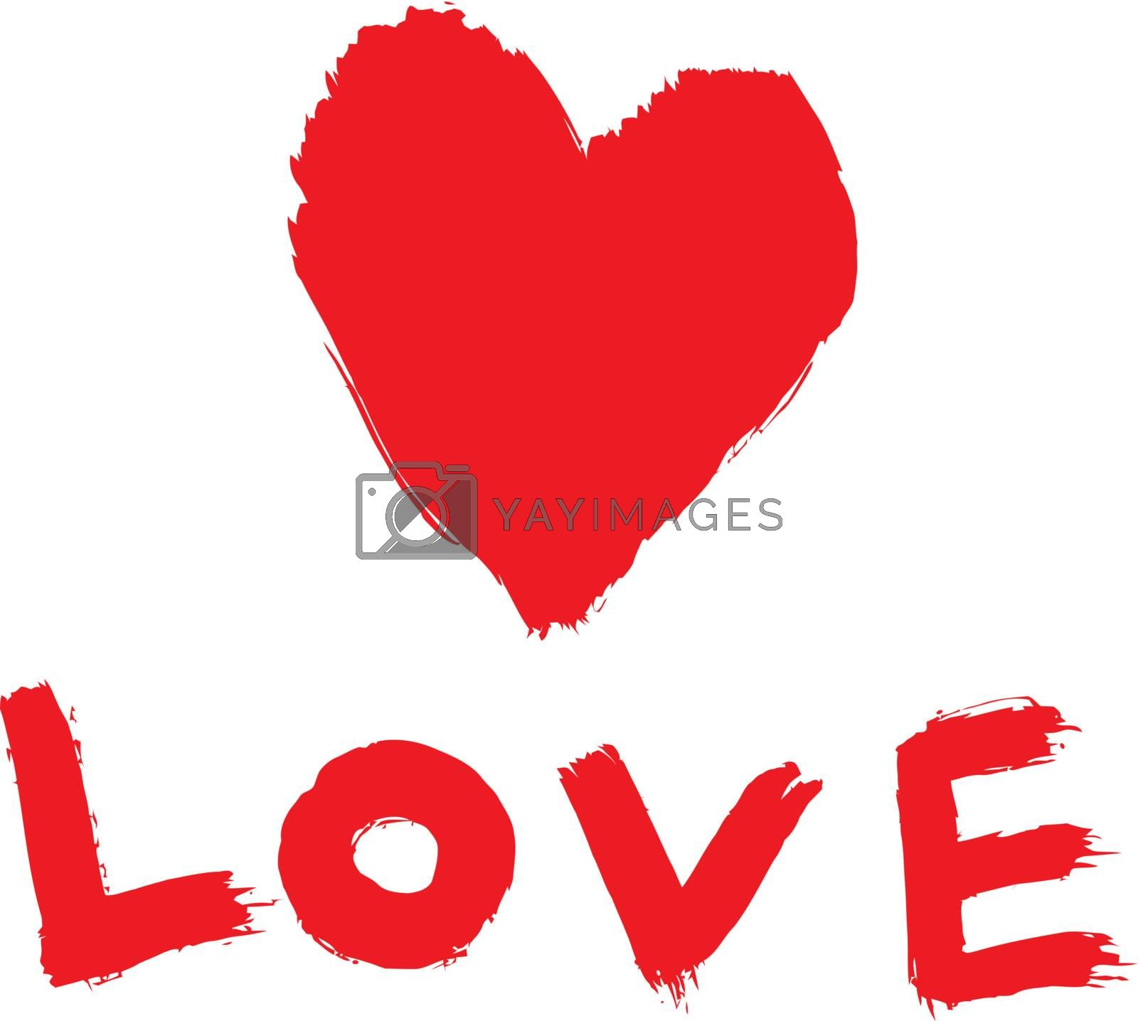 ''love'' with abstract heart