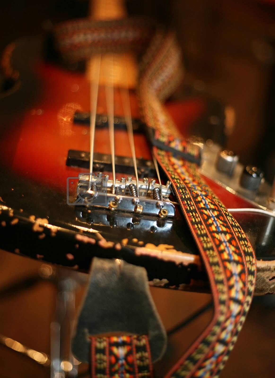 Conceptual the image of a guitar with a loop