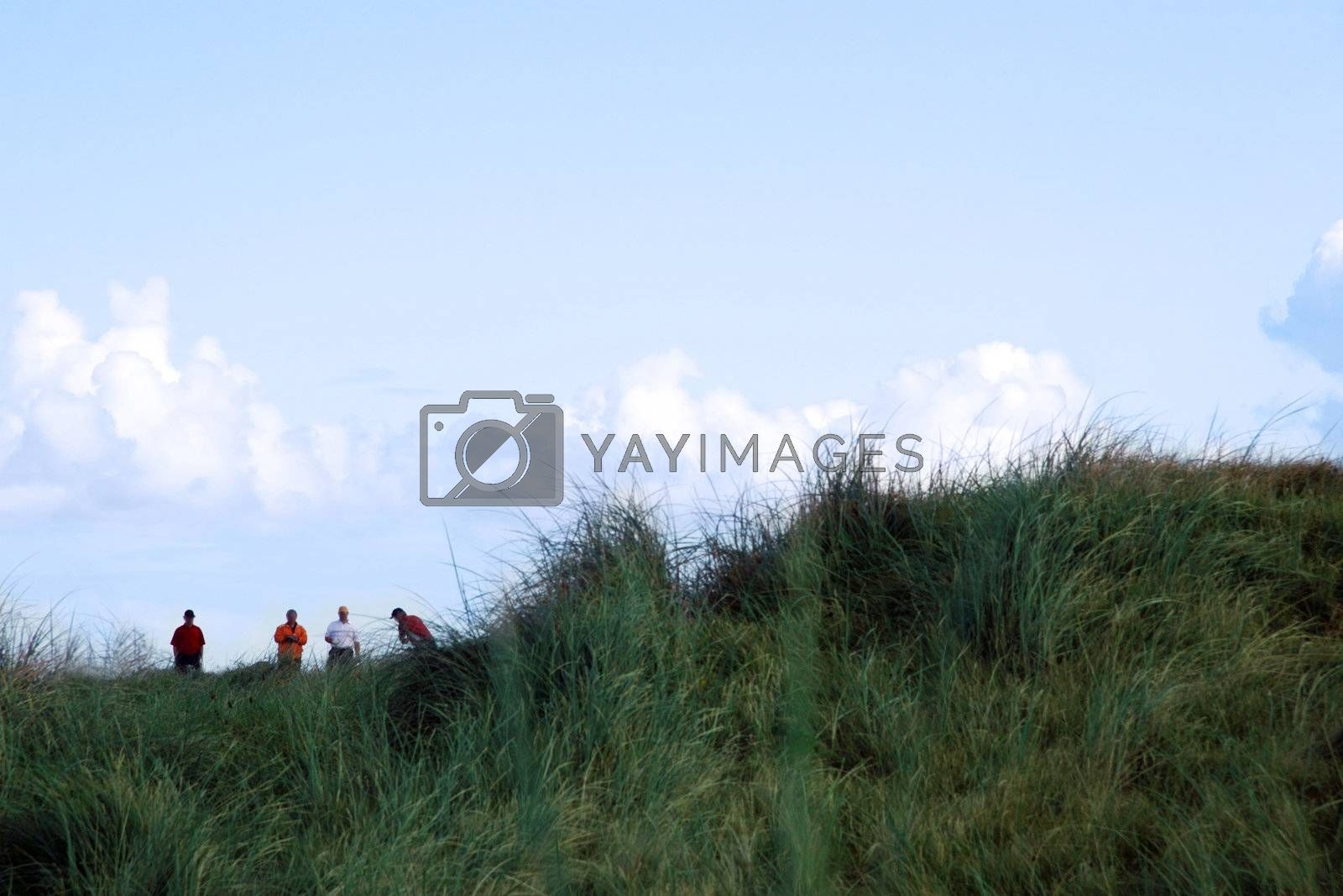 golfers on ballybunion golf course