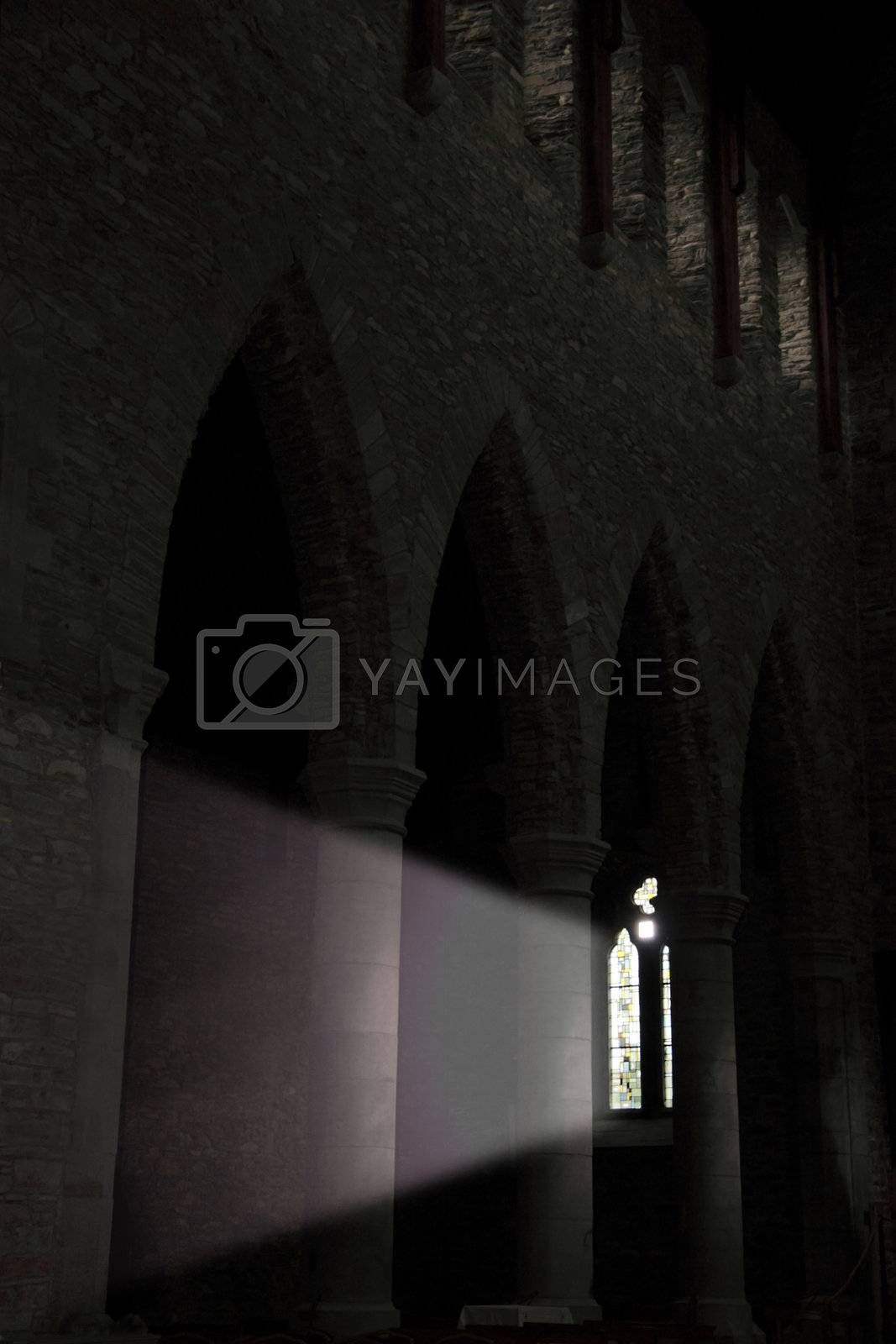 light through a church window