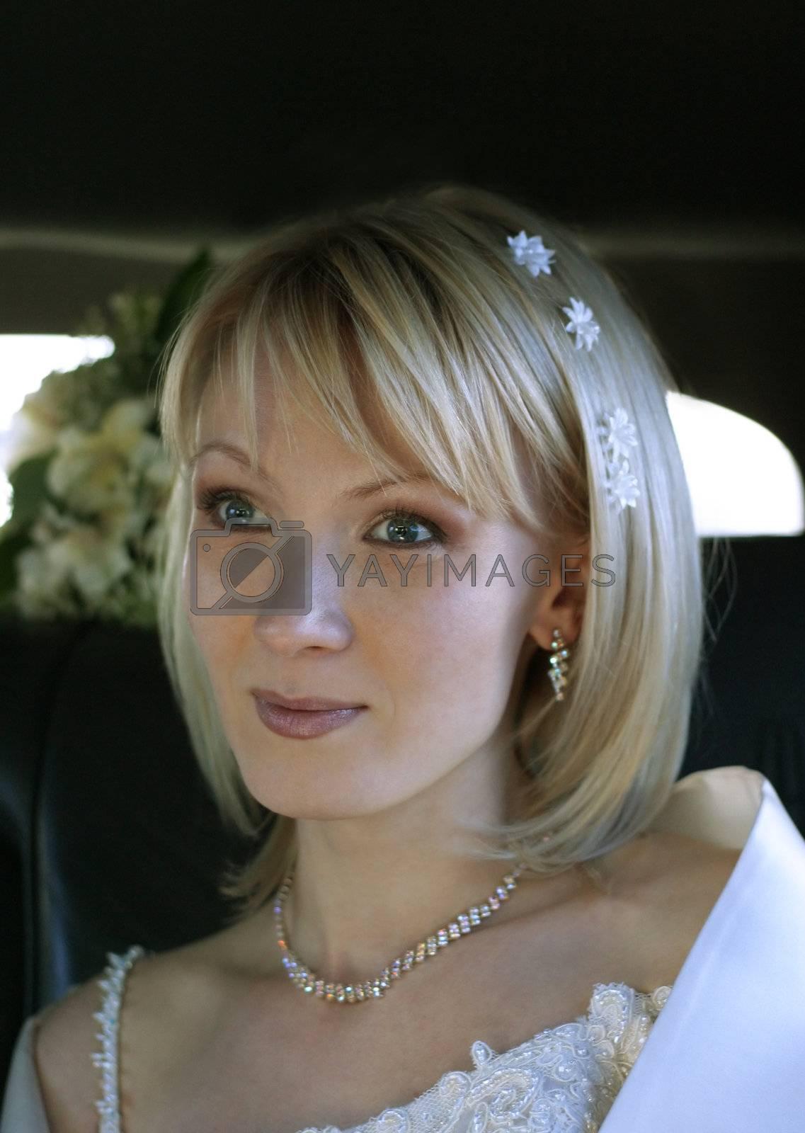 Portrait of the beautiful bride close-up