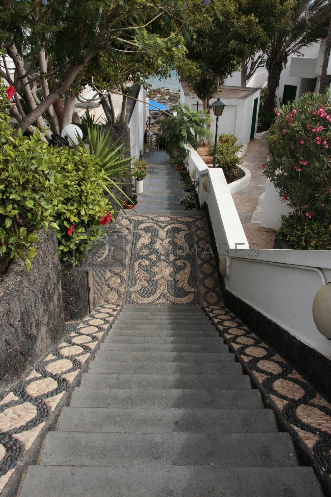 mosaic steps by morrbyte