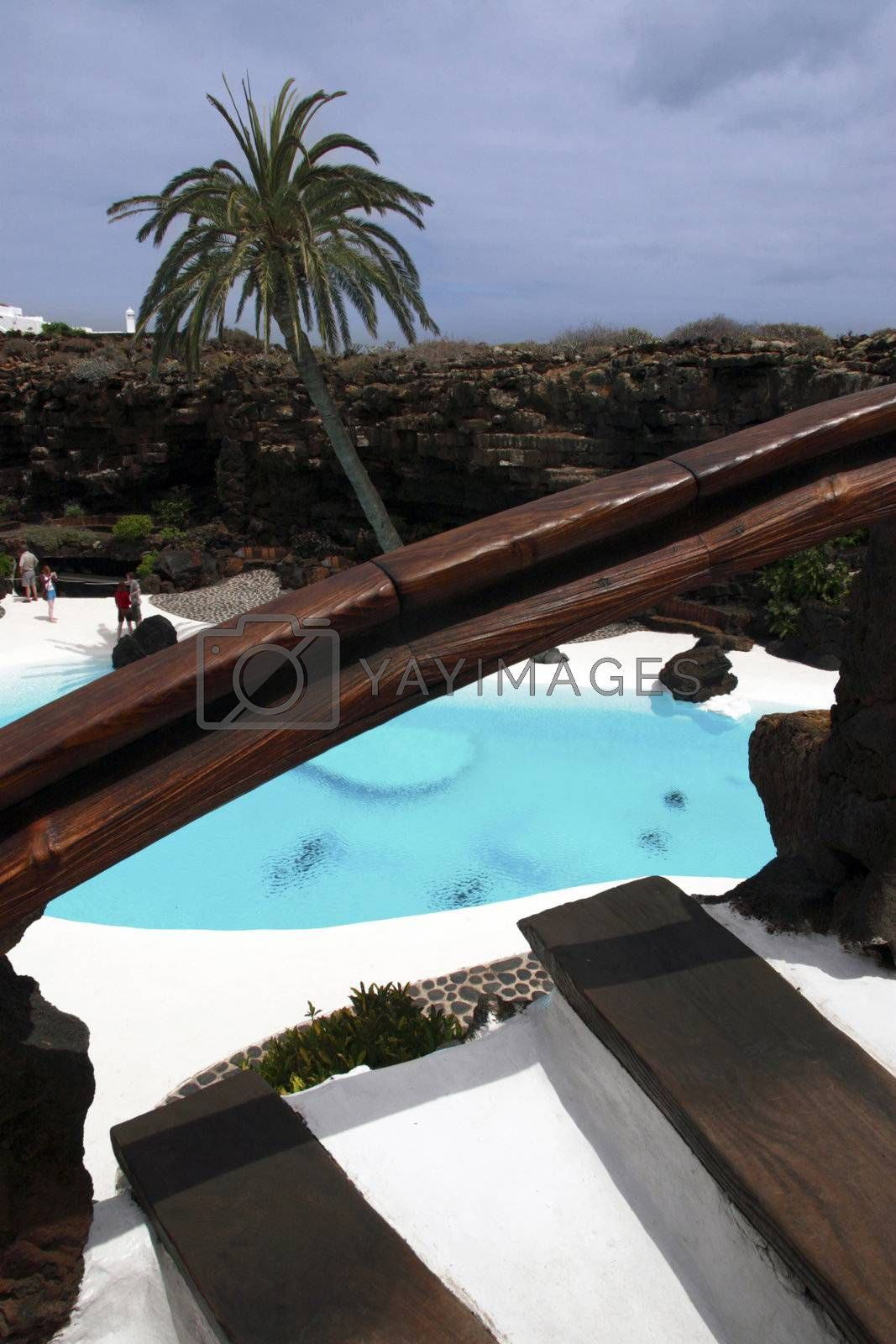 Royalty free image of pool romance by morrbyte