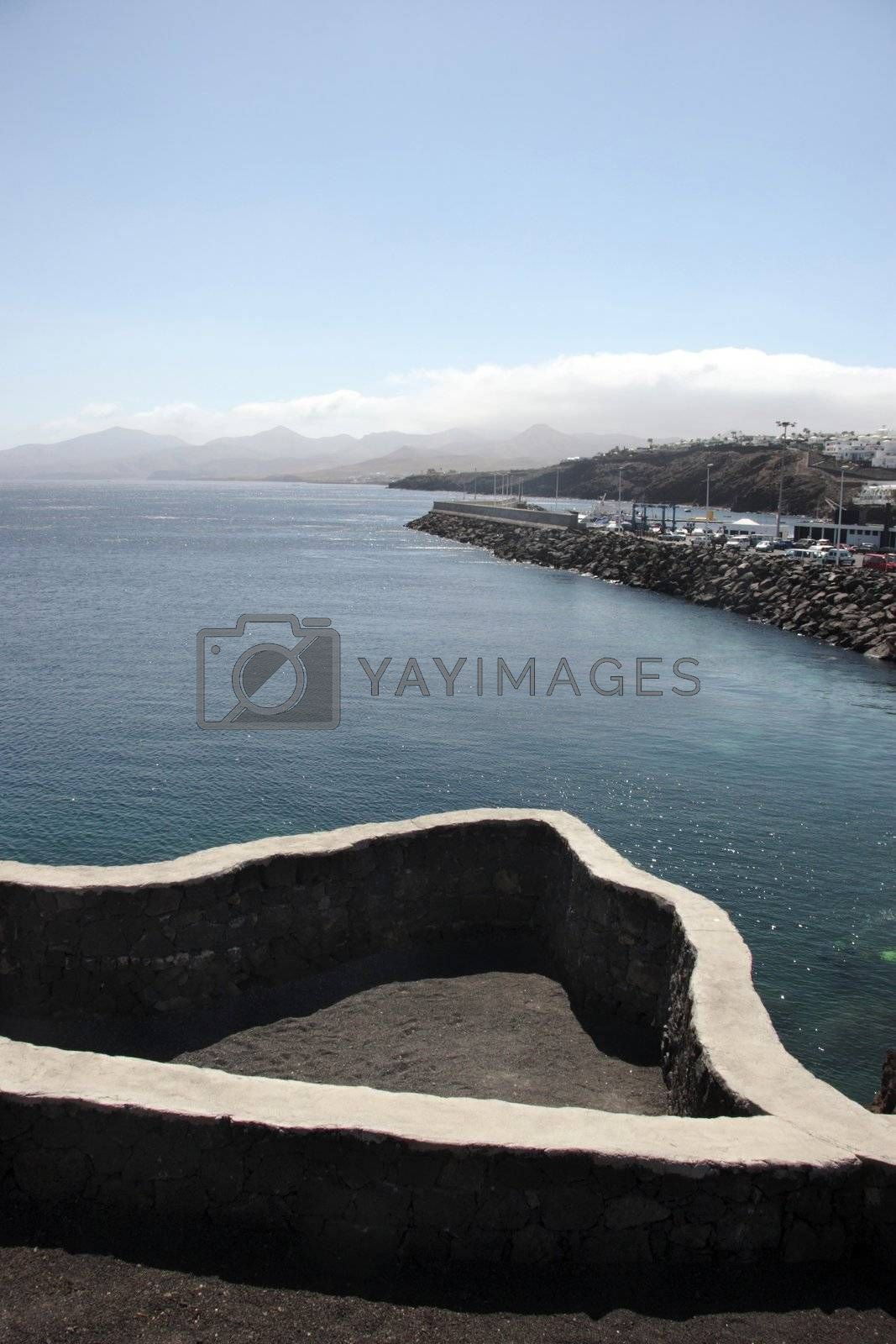 path on the lanzarote coast line