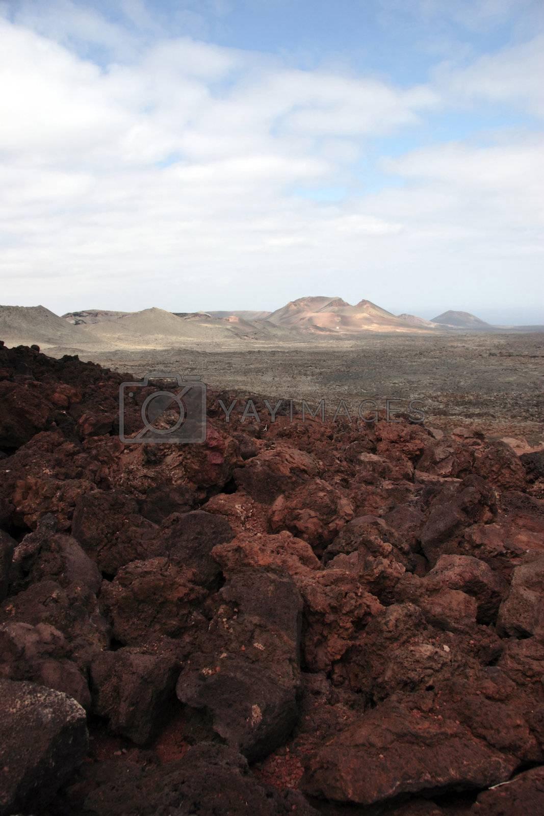 volcano horizon by morrbyte